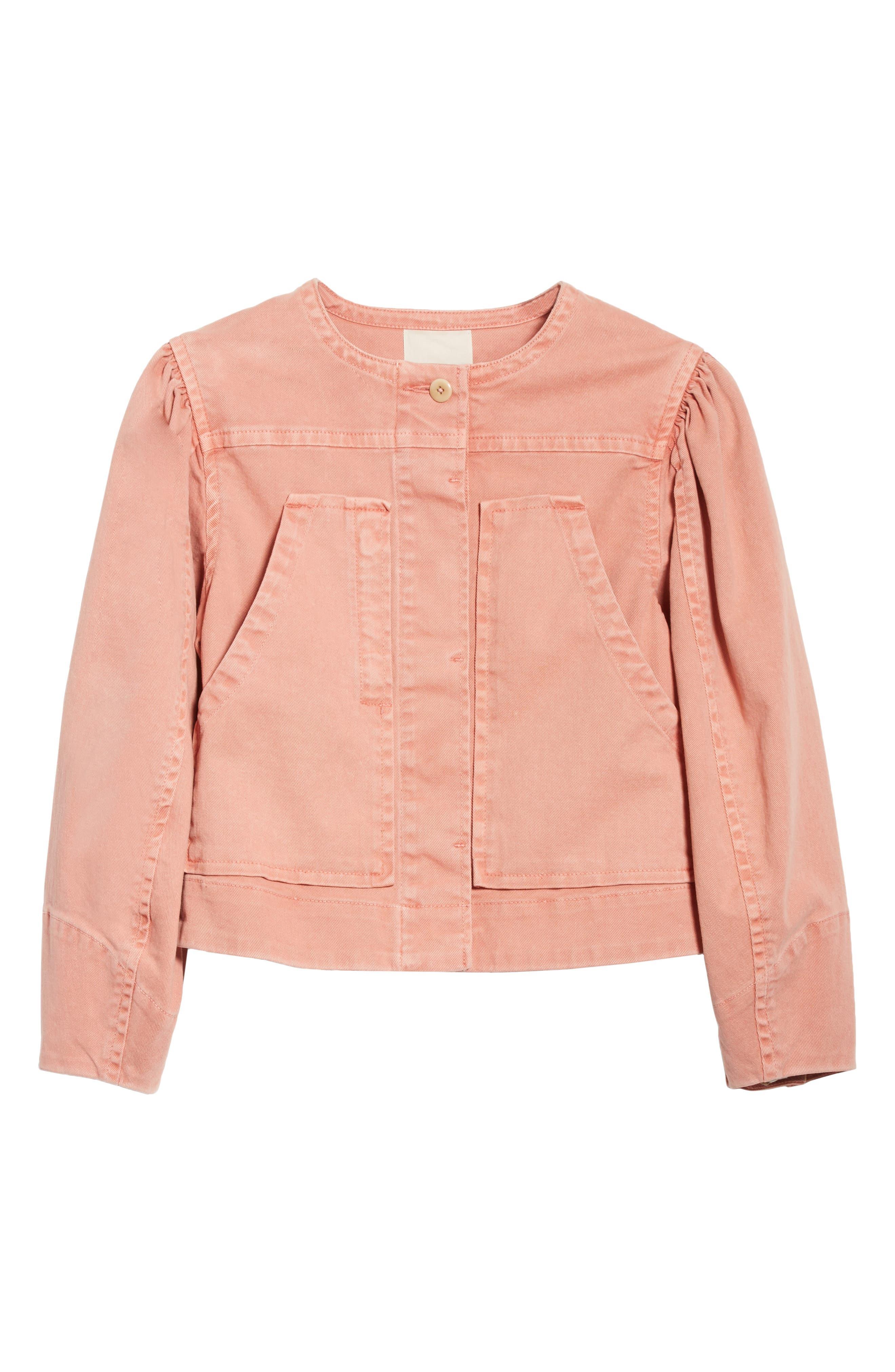 Alternate Image 6  - La Vie Rebecca Taylor Garment Dyed Twill Jacket