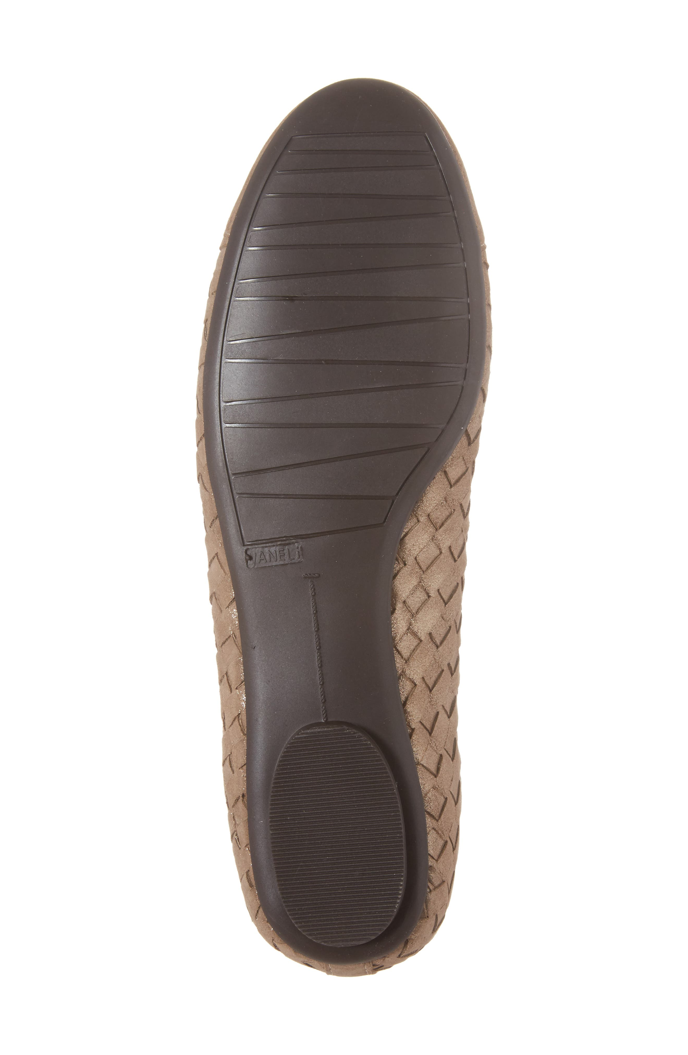 Shera Woven Skimmer Flat,                             Alternate thumbnail 6, color,                             Taupe Suede