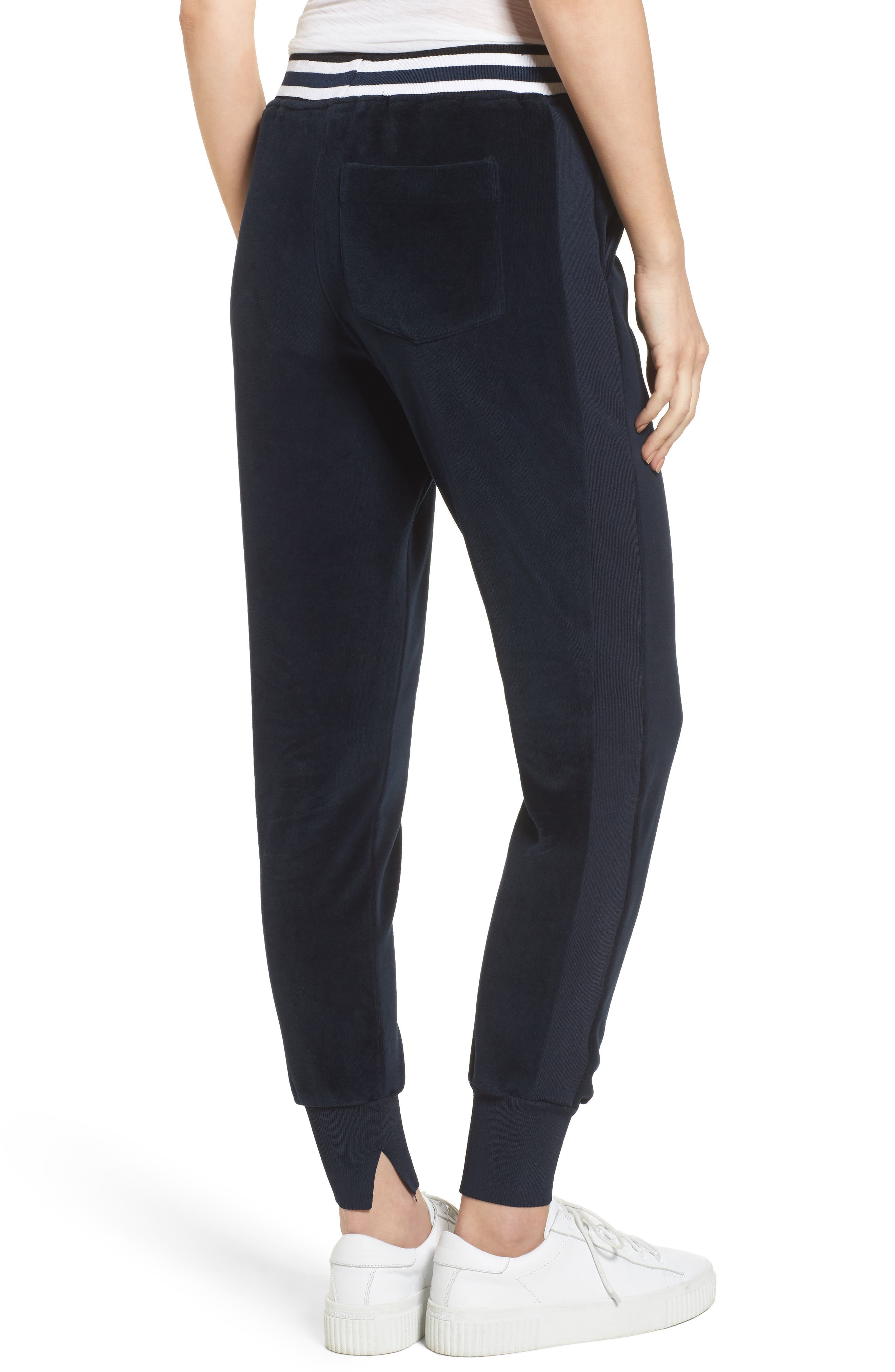 Velour Jogger Pants,                             Alternate thumbnail 2, color,                             True Navy