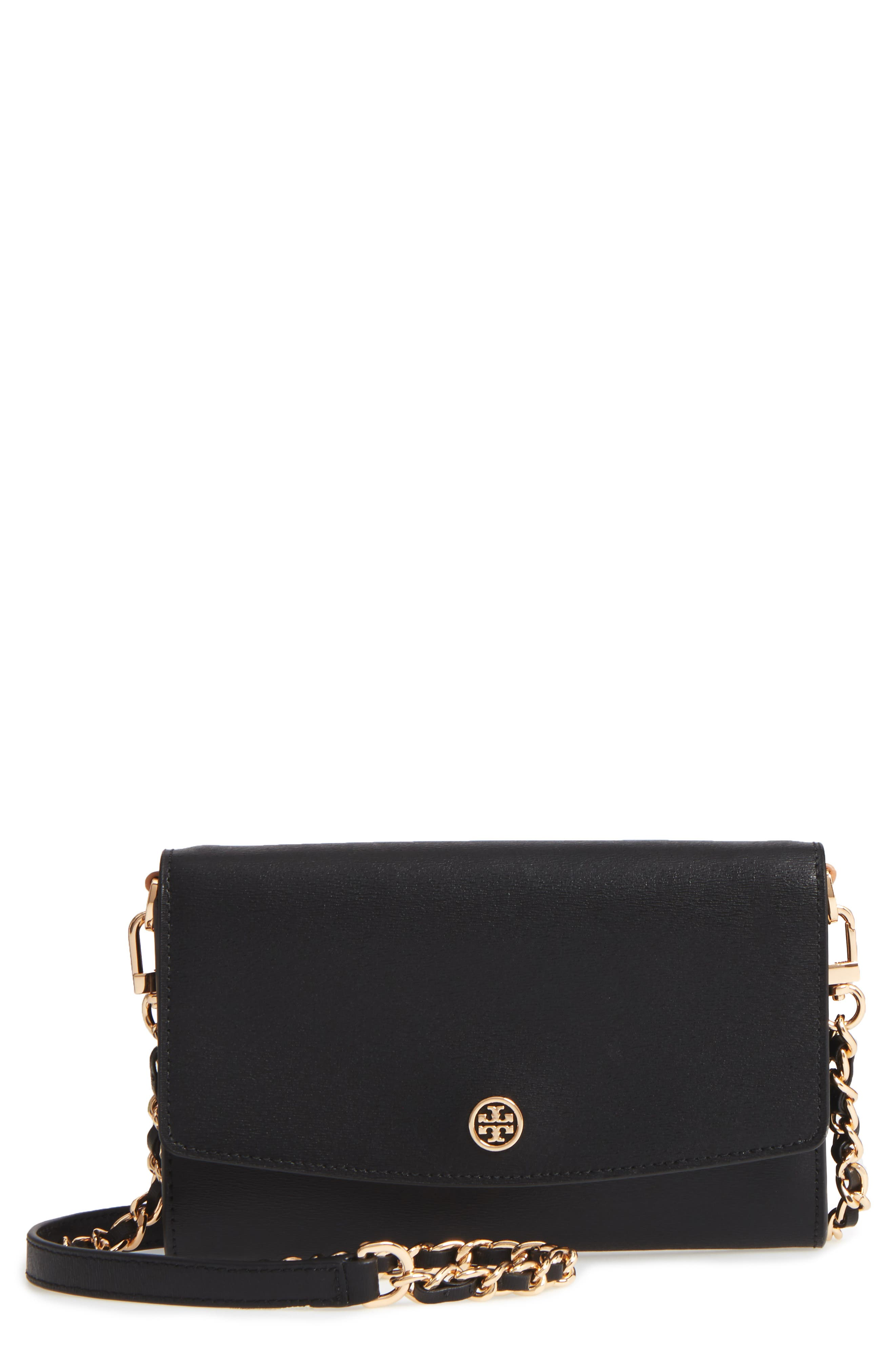 Tory Burch Parker Leather Wallet on a Chain
