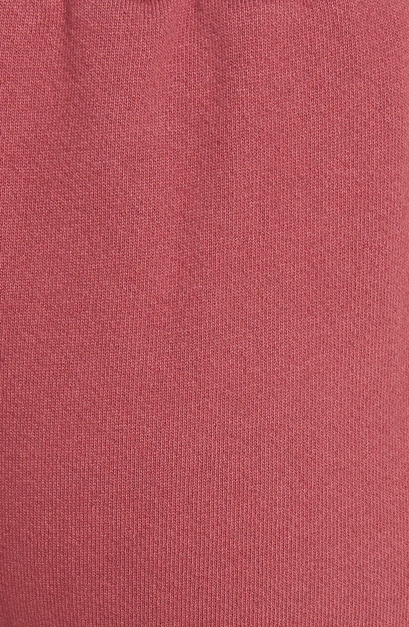 Canal French Terry Sweatpants,                             Alternate thumbnail 3, color,                             Tegola Pink