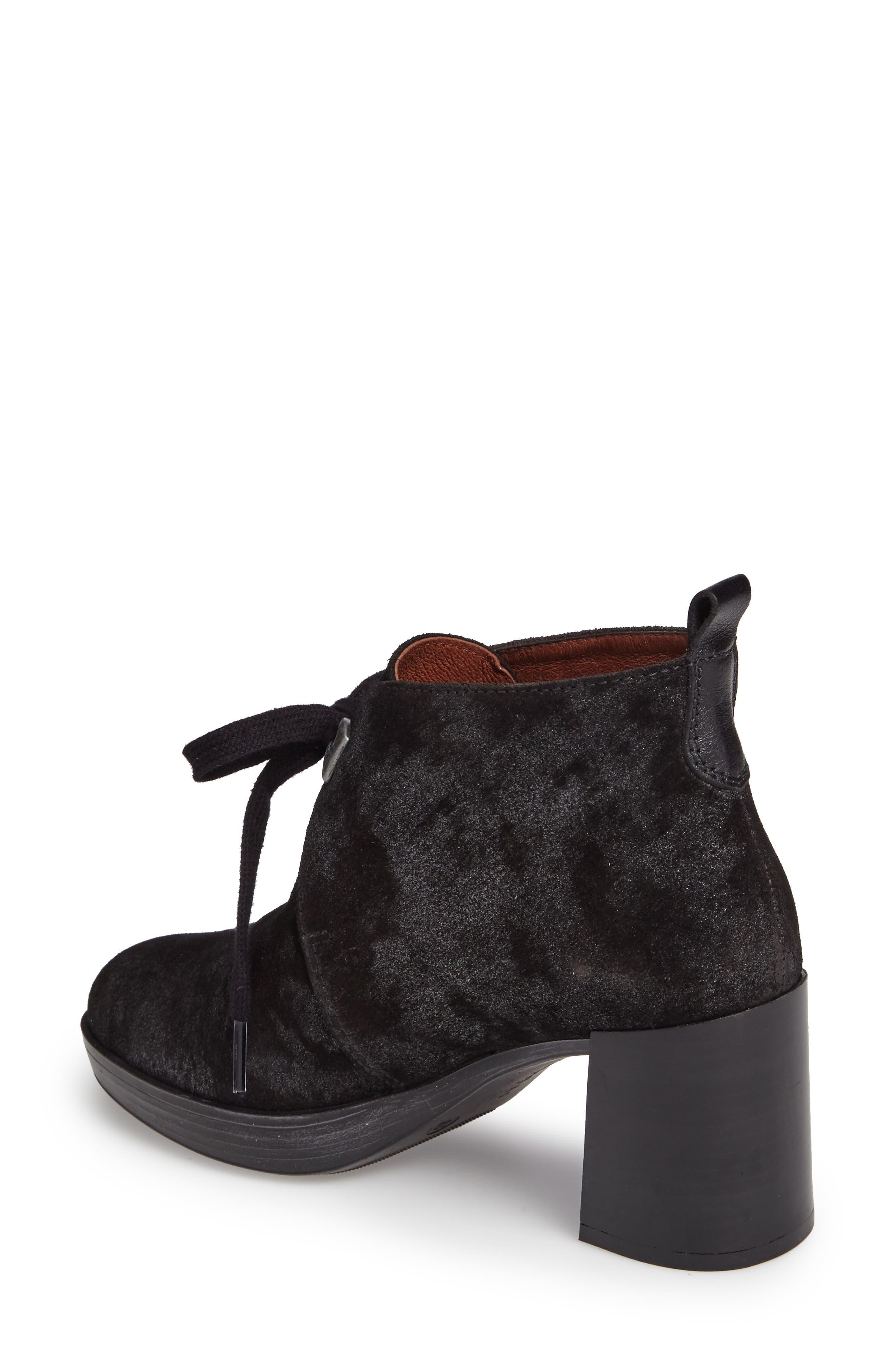 Dasia Bow Bootie,                             Alternate thumbnail 2, color,                             Brut Black Leather