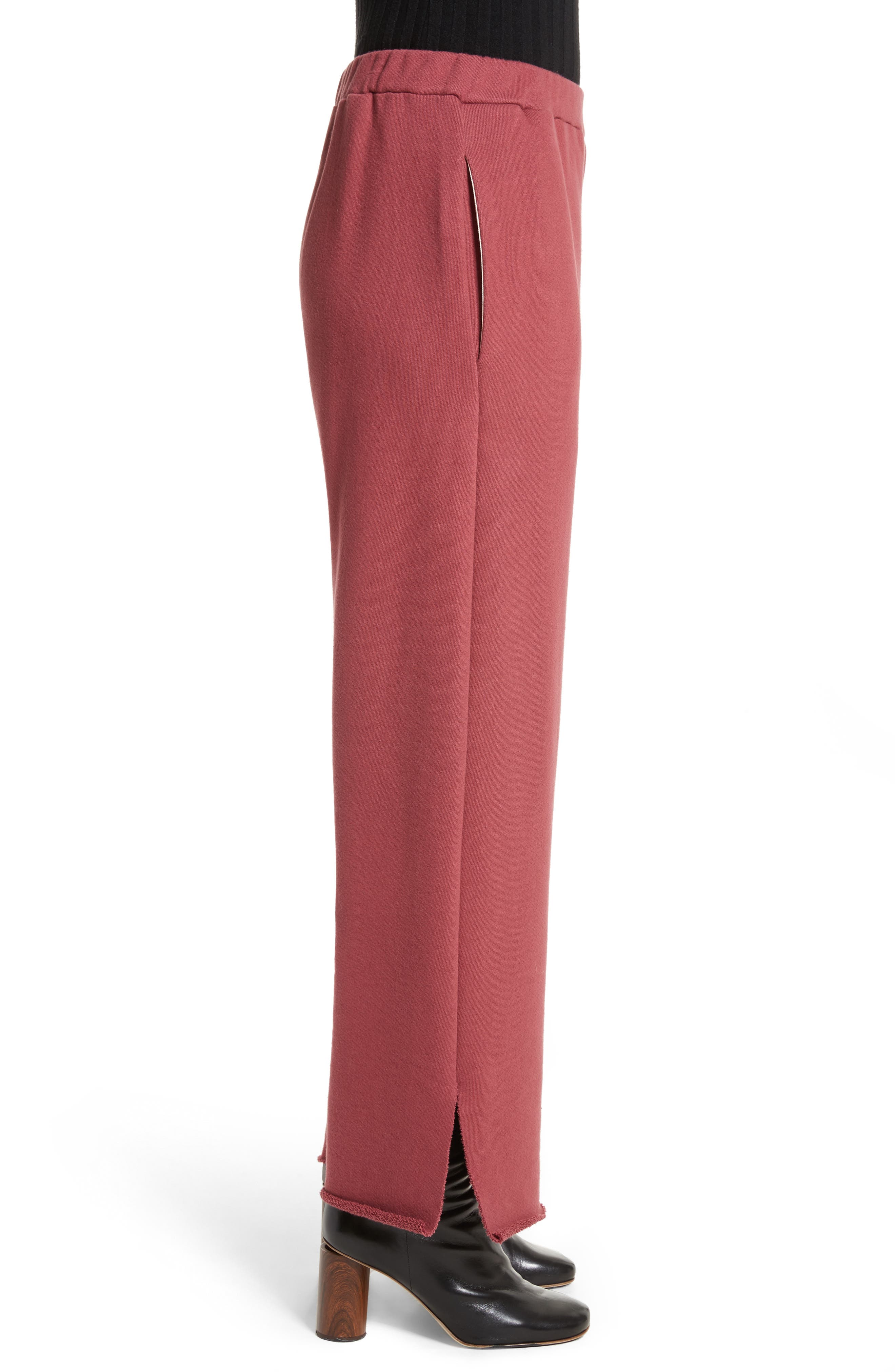 Canal French Terry Sweatpants,                             Alternate thumbnail 5, color,                             Tegola Pink