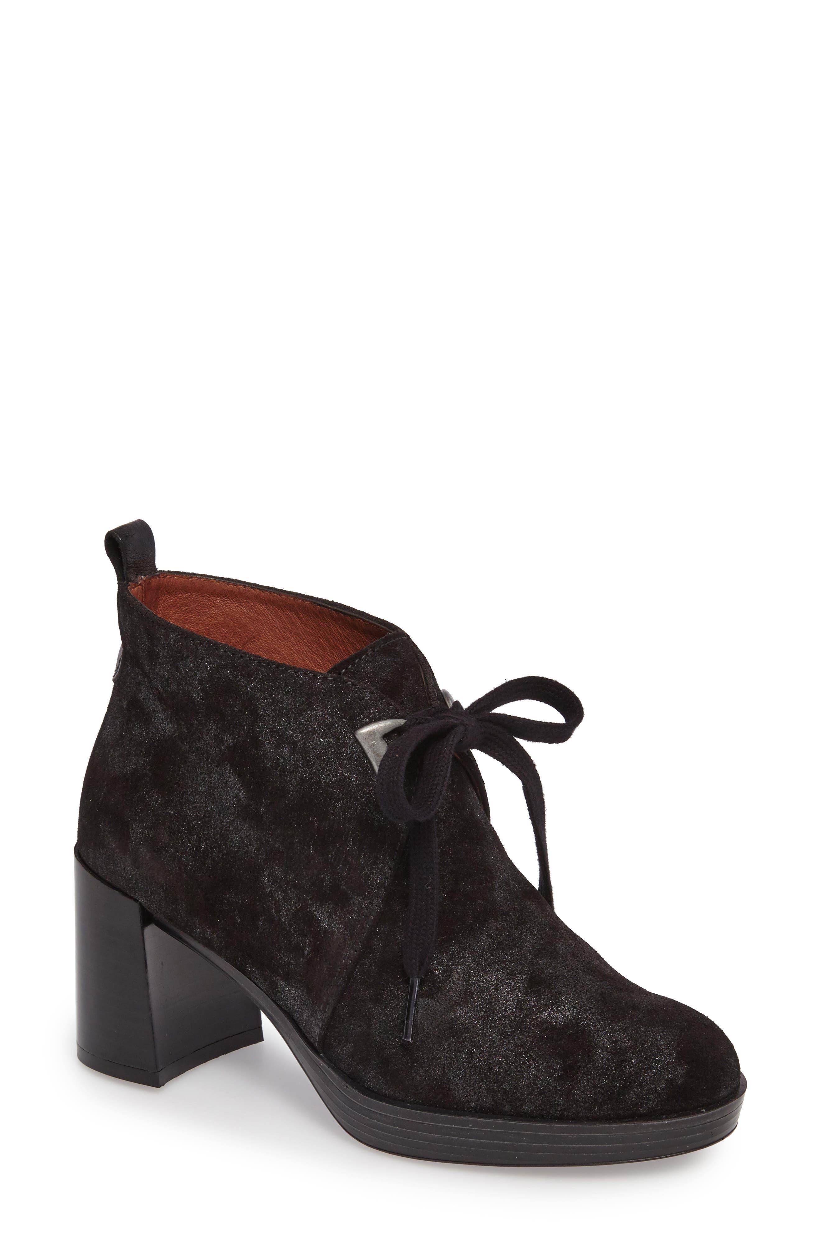 Dasia Bow Bootie,                             Main thumbnail 1, color,                             Brut Black Leather