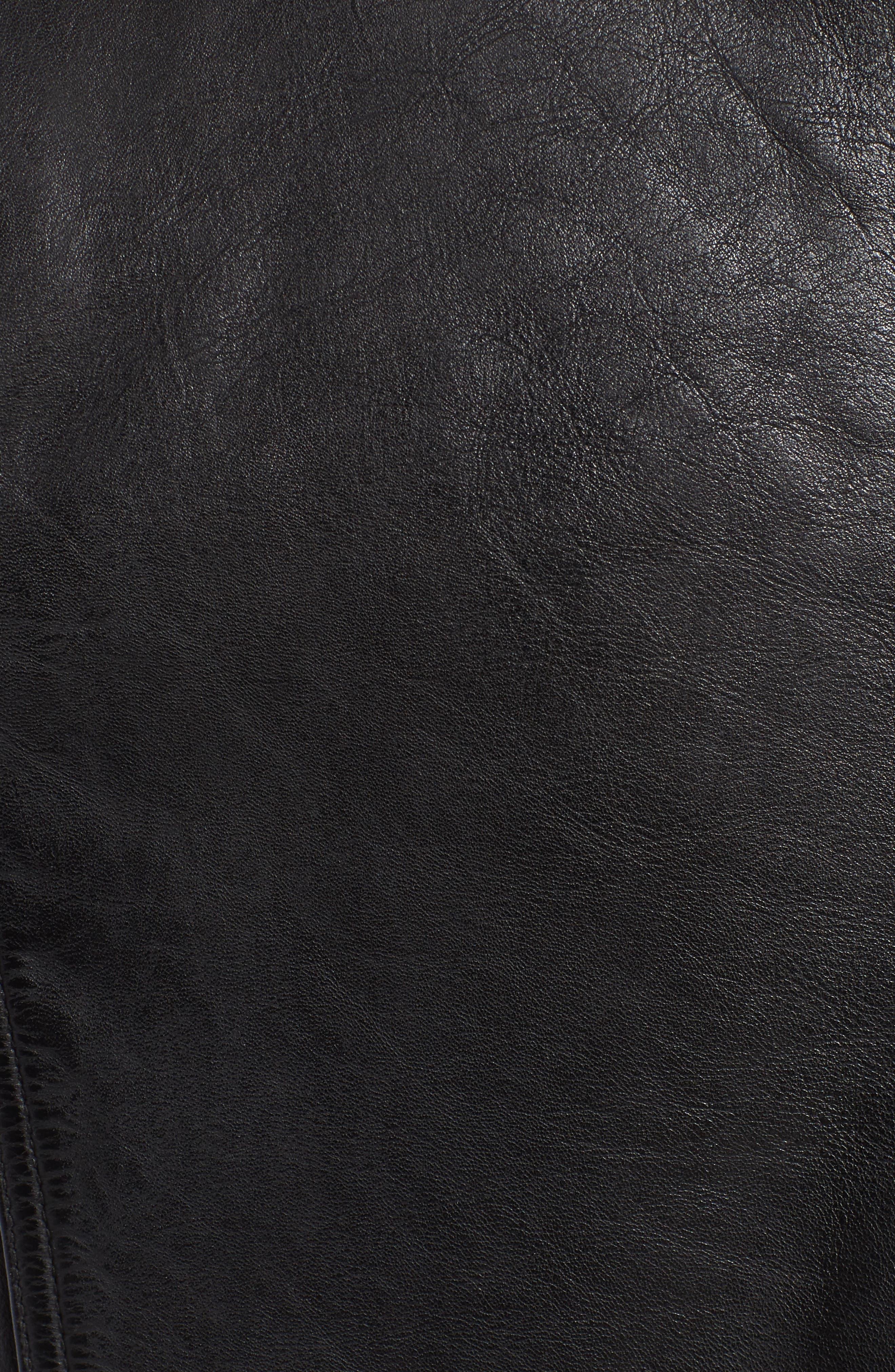 Alternate Image 6  - Marc New York Calfskin Leather Moto Jacket