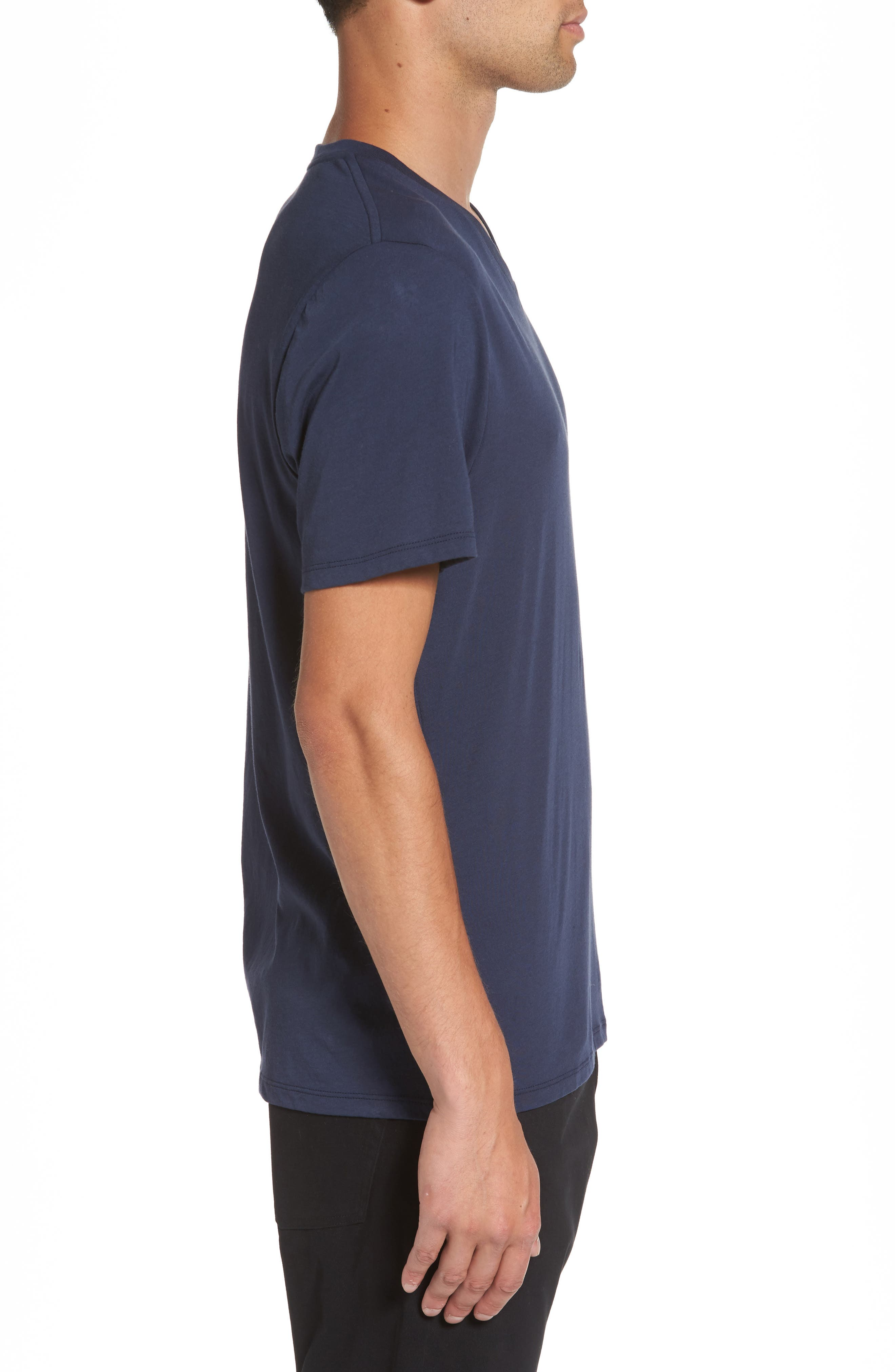 Regular Fit V-Neck T-Shirt,                             Alternate thumbnail 3, color,                             Starry Night