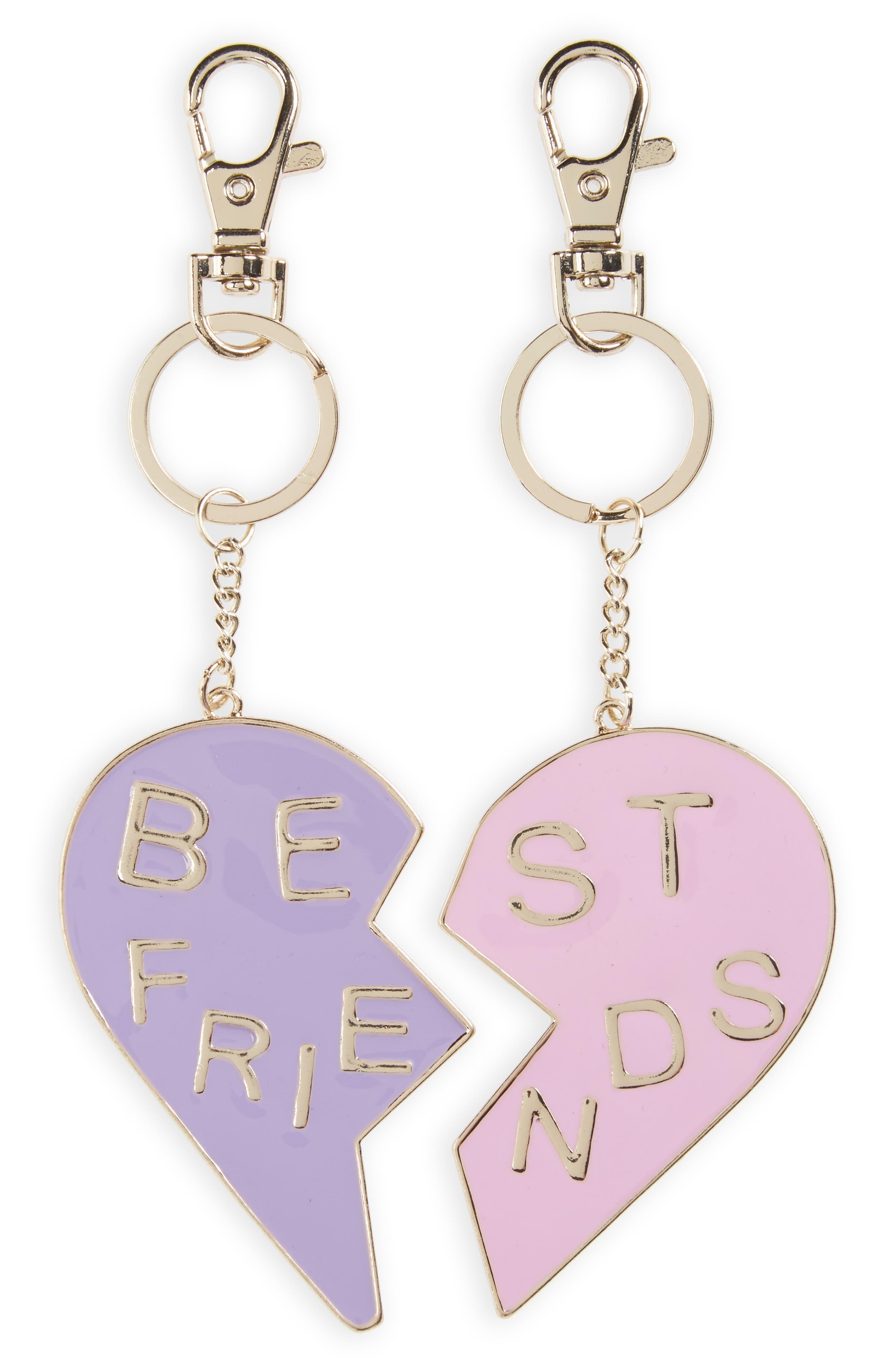 Topshop Set of 2 Best Friends Key Rings