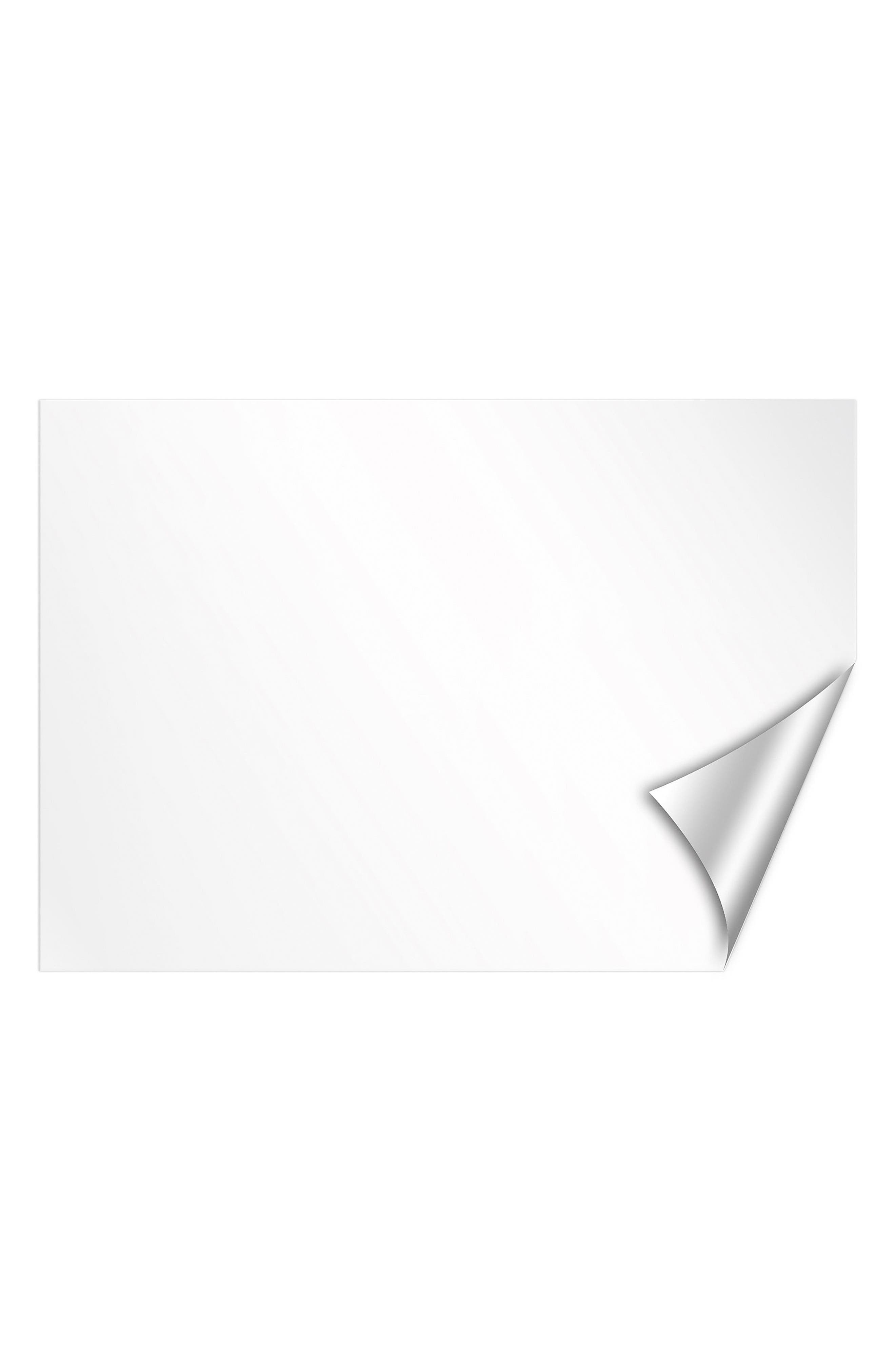 Set of 2 Dry Erase Wall Decals,                             Main thumbnail 1, color,                             White Off-White