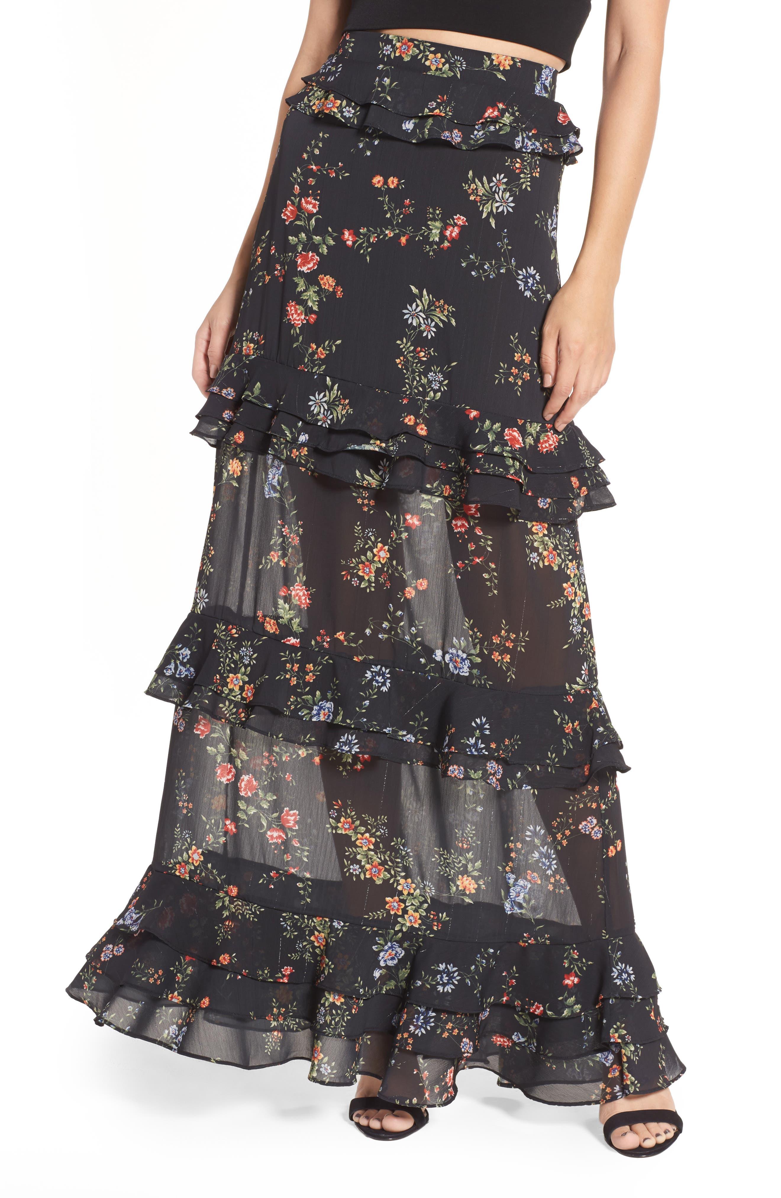 ARRIVE Otis Ruffle Maxi Skirt
