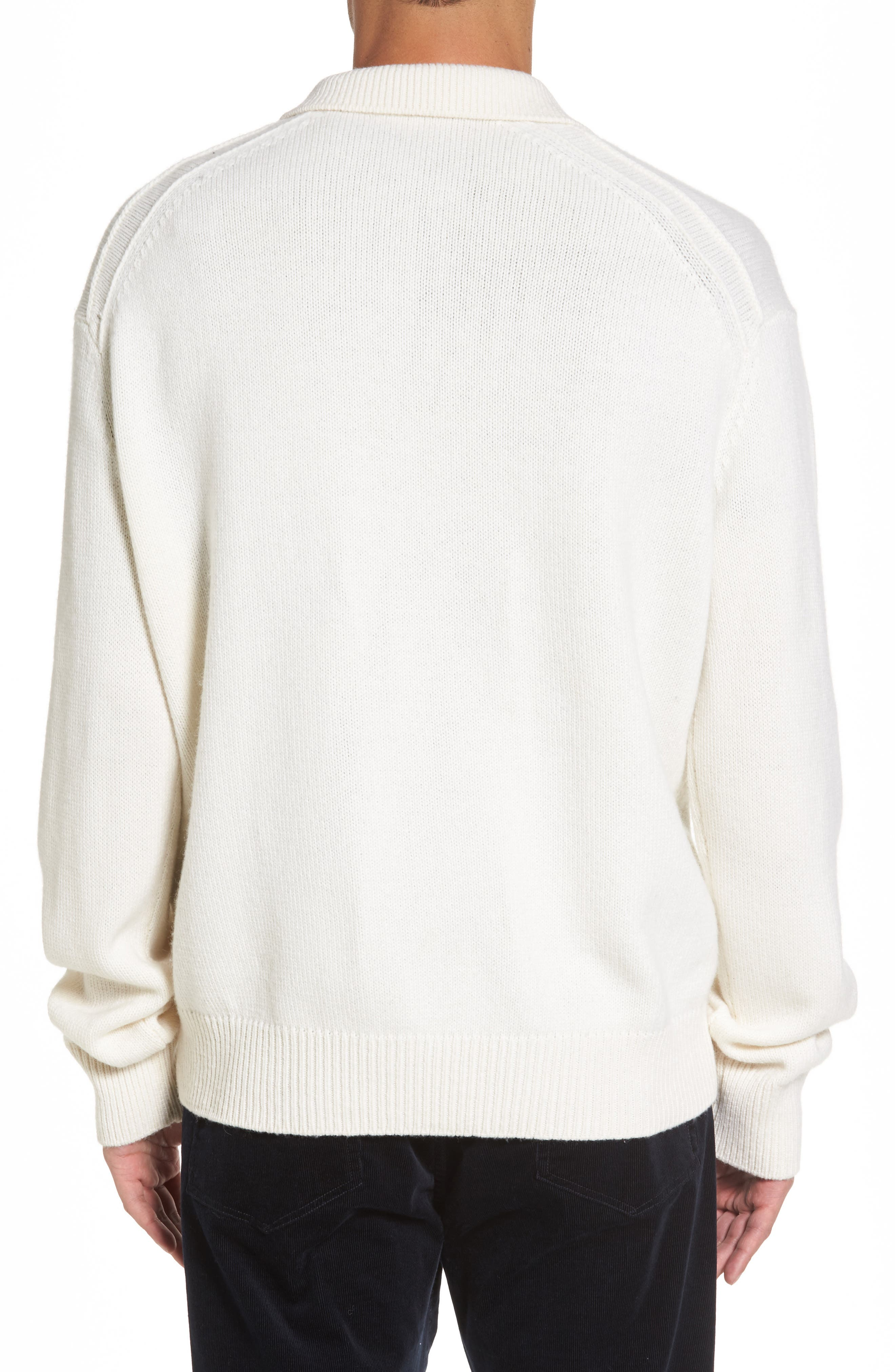 Alternate Image 2  - Vince Wool & Cashmere Polo Sweater