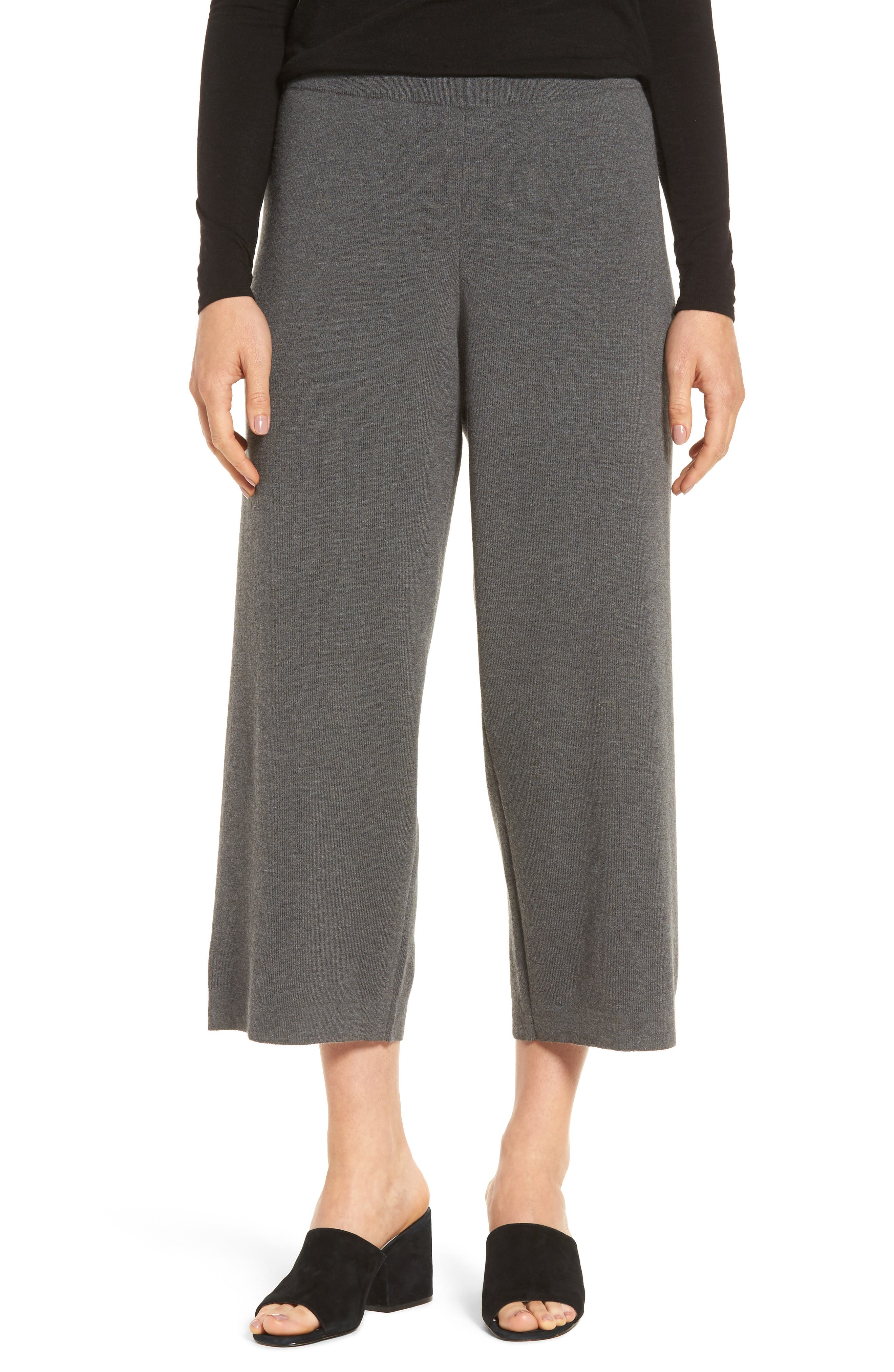 Eileen Fisher Wide Leg Crop Wool Pants