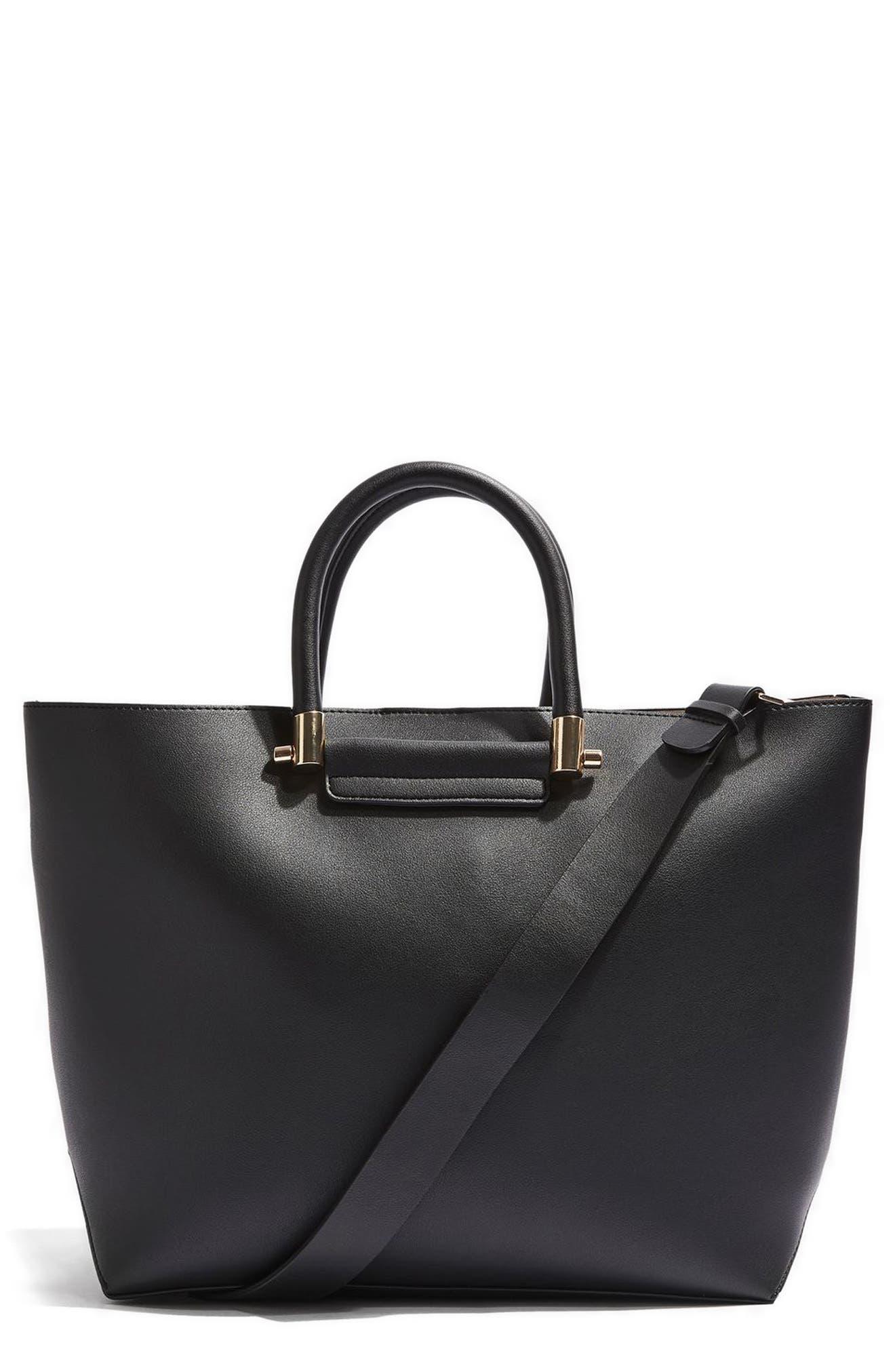 Topshop Simona Faux Leather Shopper