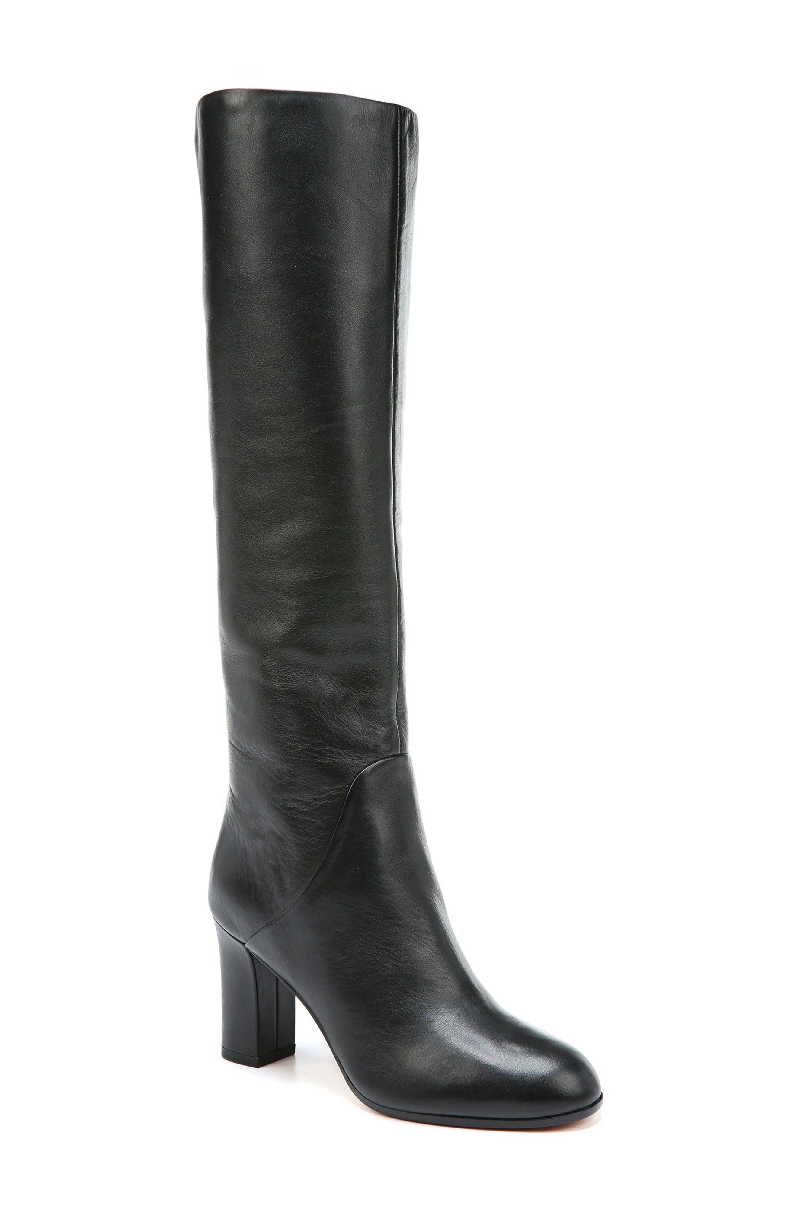 Soho Knee High Boot,                         Main,                         color, Onyx Leather