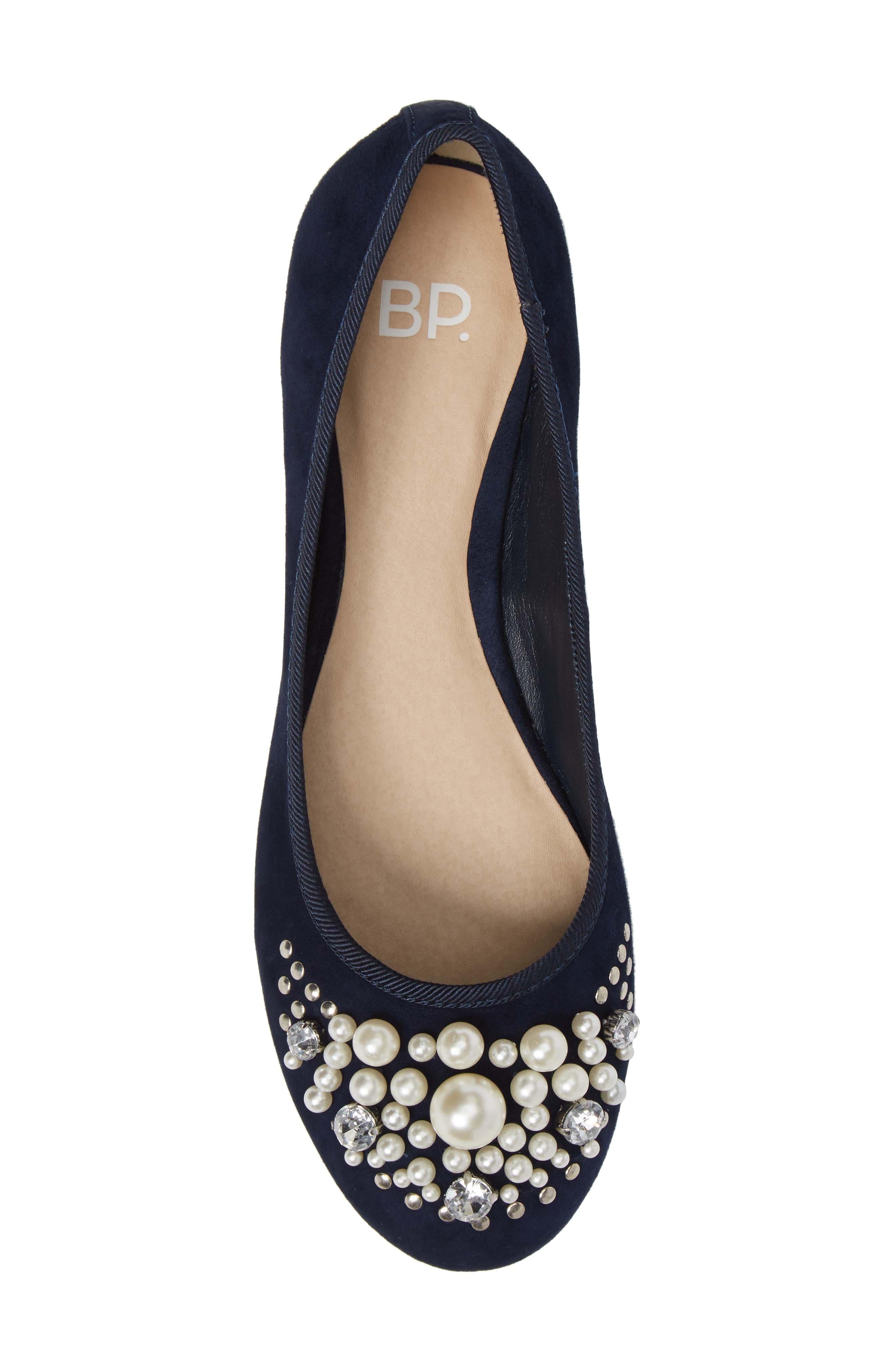 Alternate Image 5  - BP. Gracee Imitation Pearl Embellished Flat (Women)