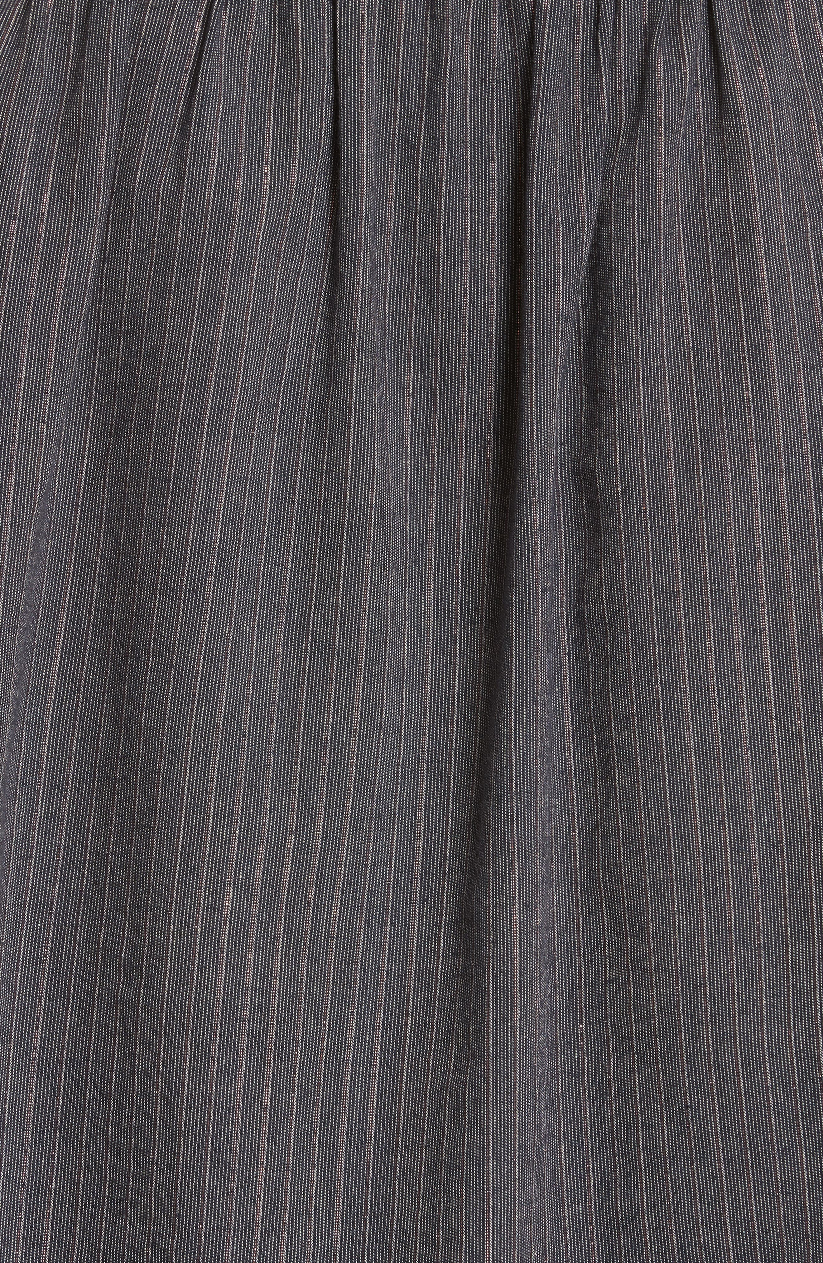 Alternate Image 5  - La Vie Rebecca Taylor Ruffle Lurex® Stripe Blouse