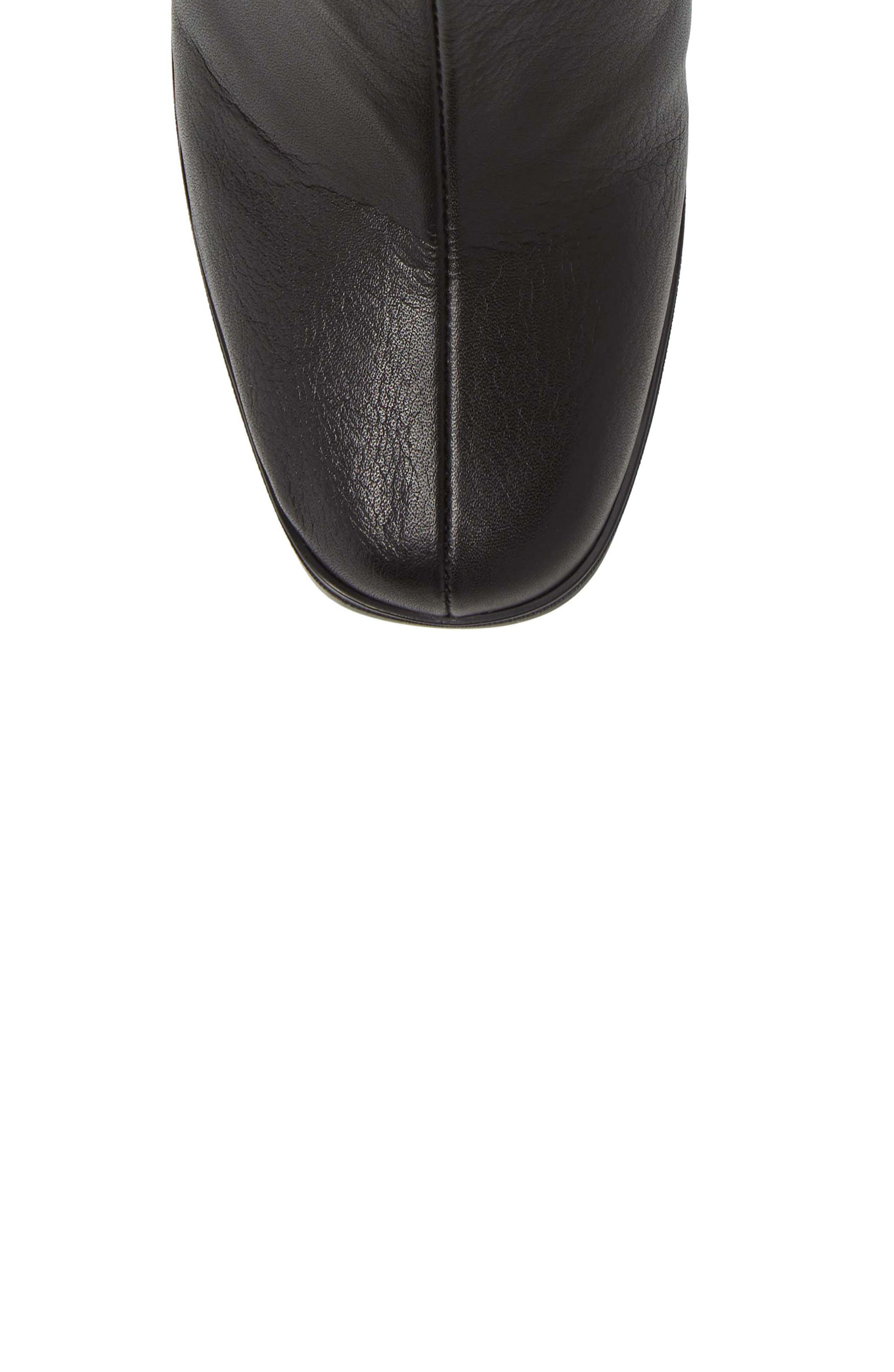 Christa Bootie,                             Alternate thumbnail 5, color,                             Soho Black Leather