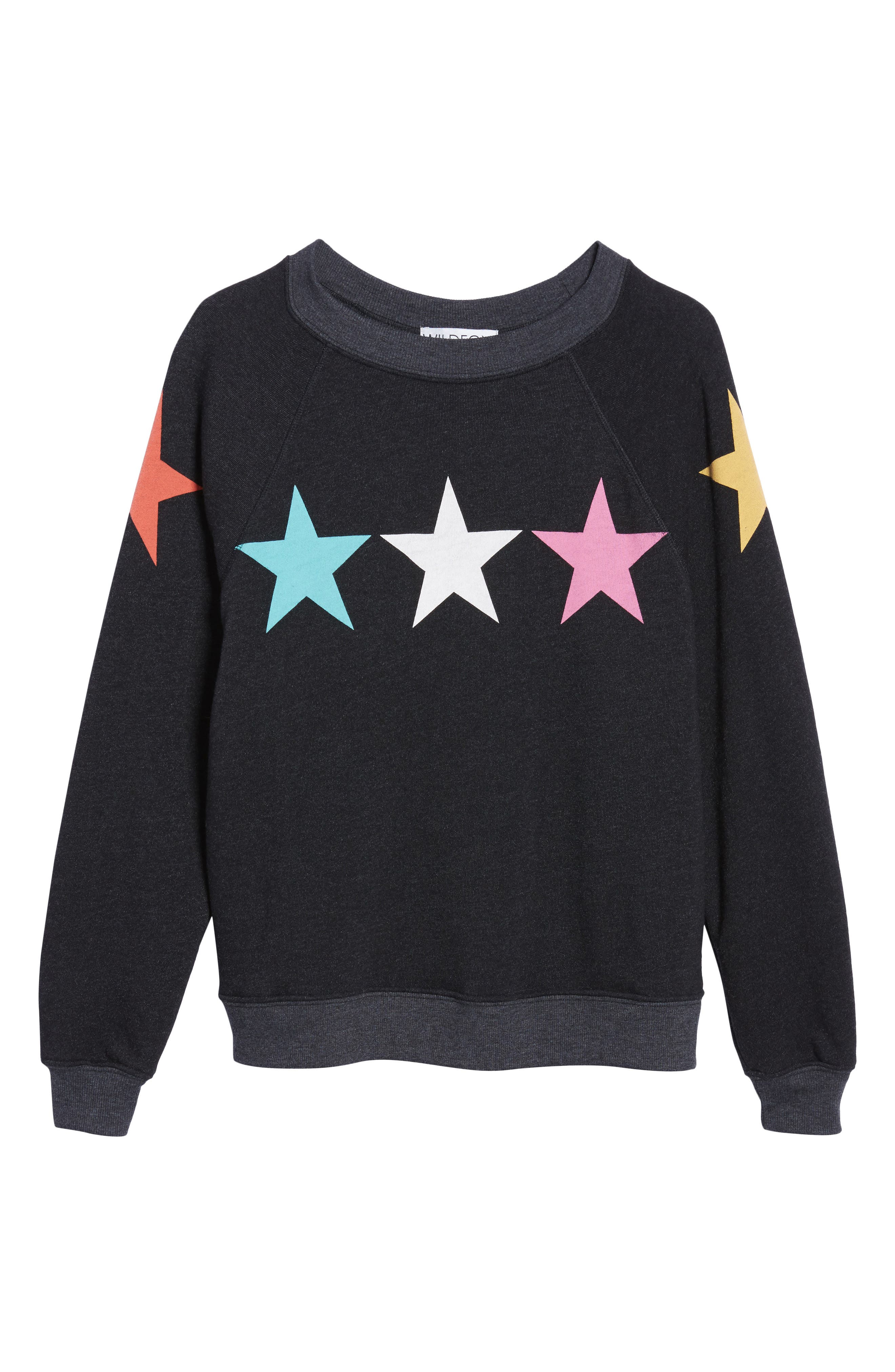 Arcade Stars Sommers Sweatshirt,                             Alternate thumbnail 7, color,                             Heathered Black