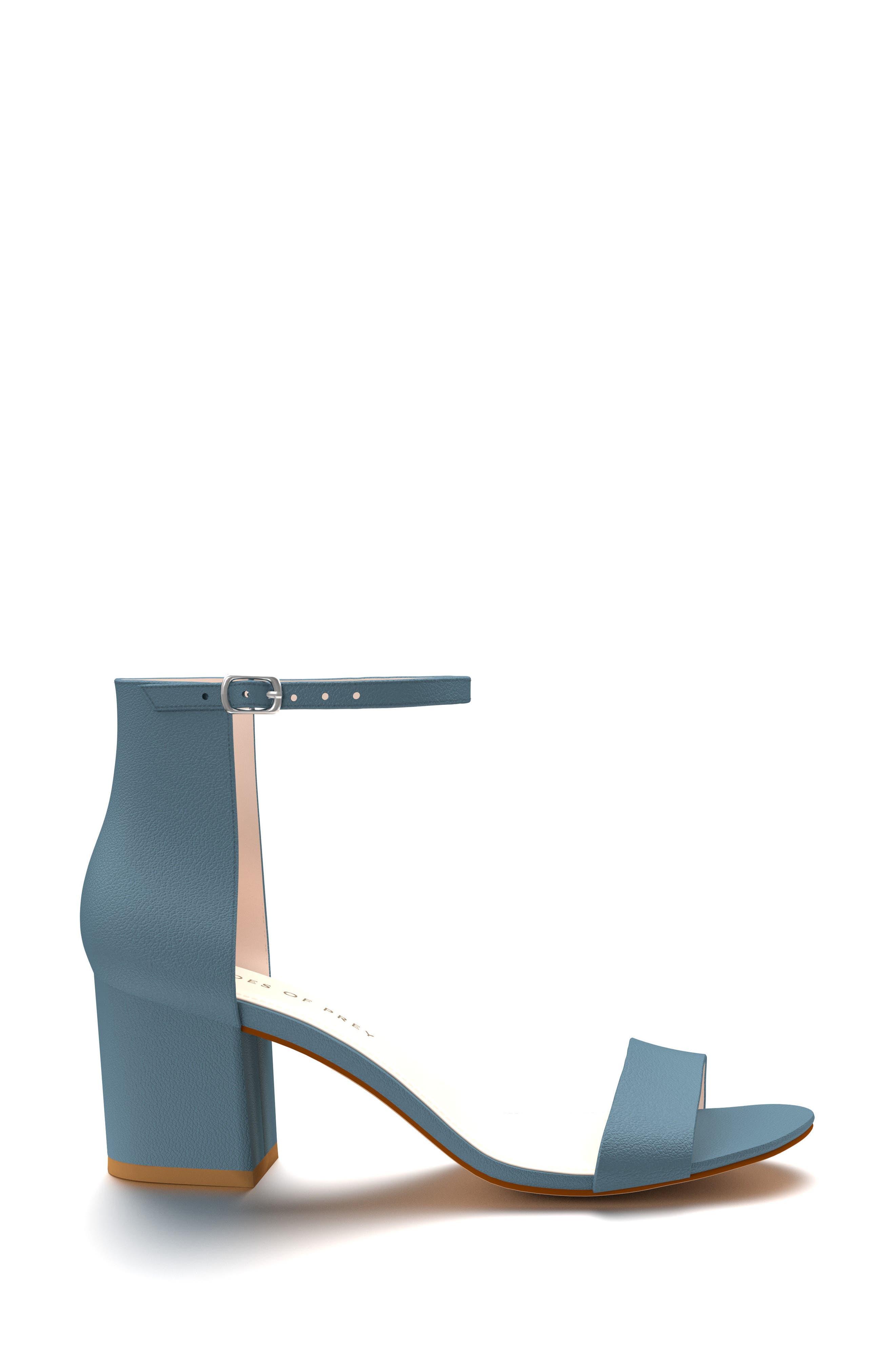 Block Heel Sandal,                             Alternate thumbnail 2, color,                             Blue Pebble Leather