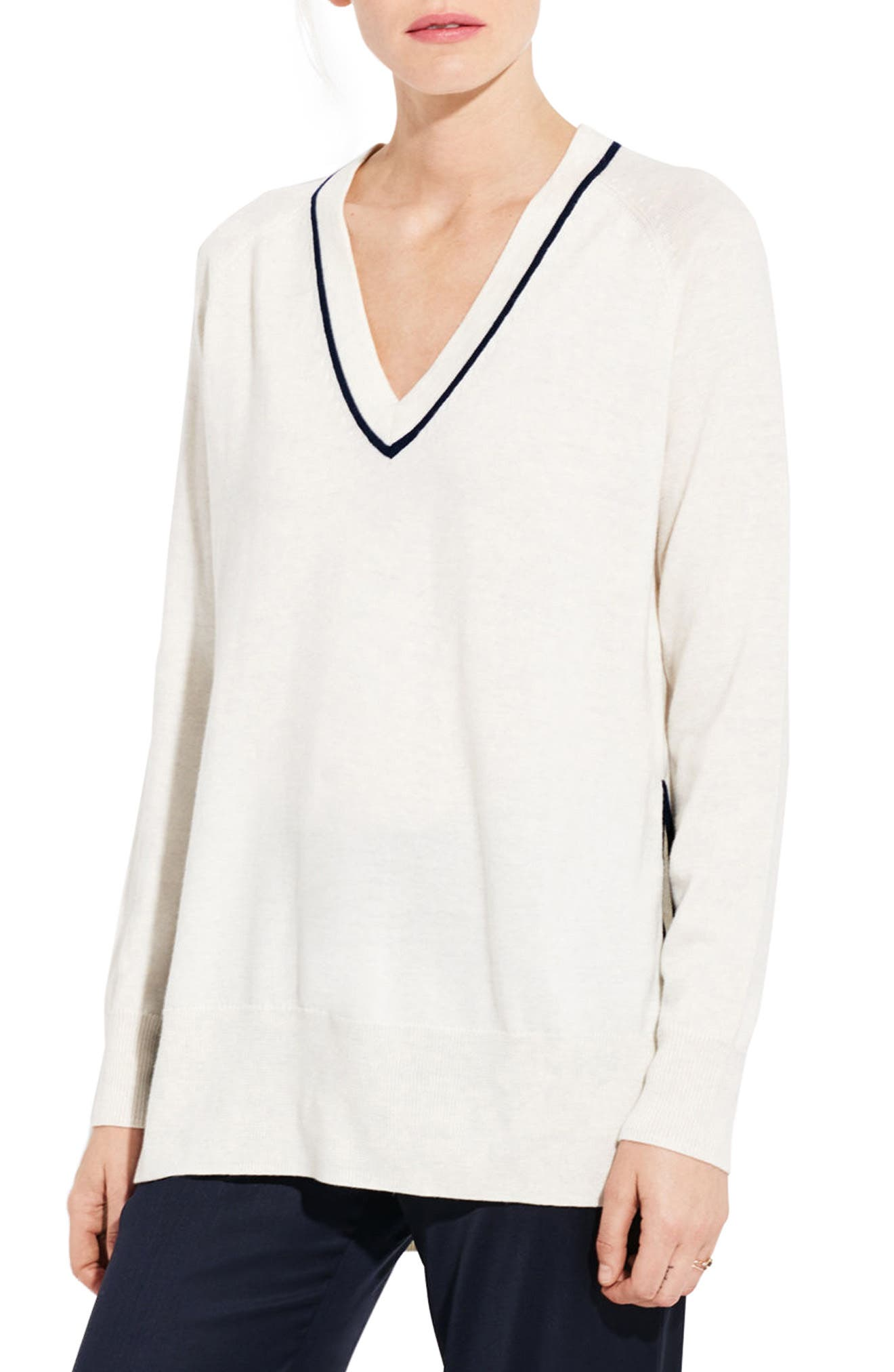 The Tune Merino Wool Sweater,                         Main,                         color, Ice Cream/ Navy