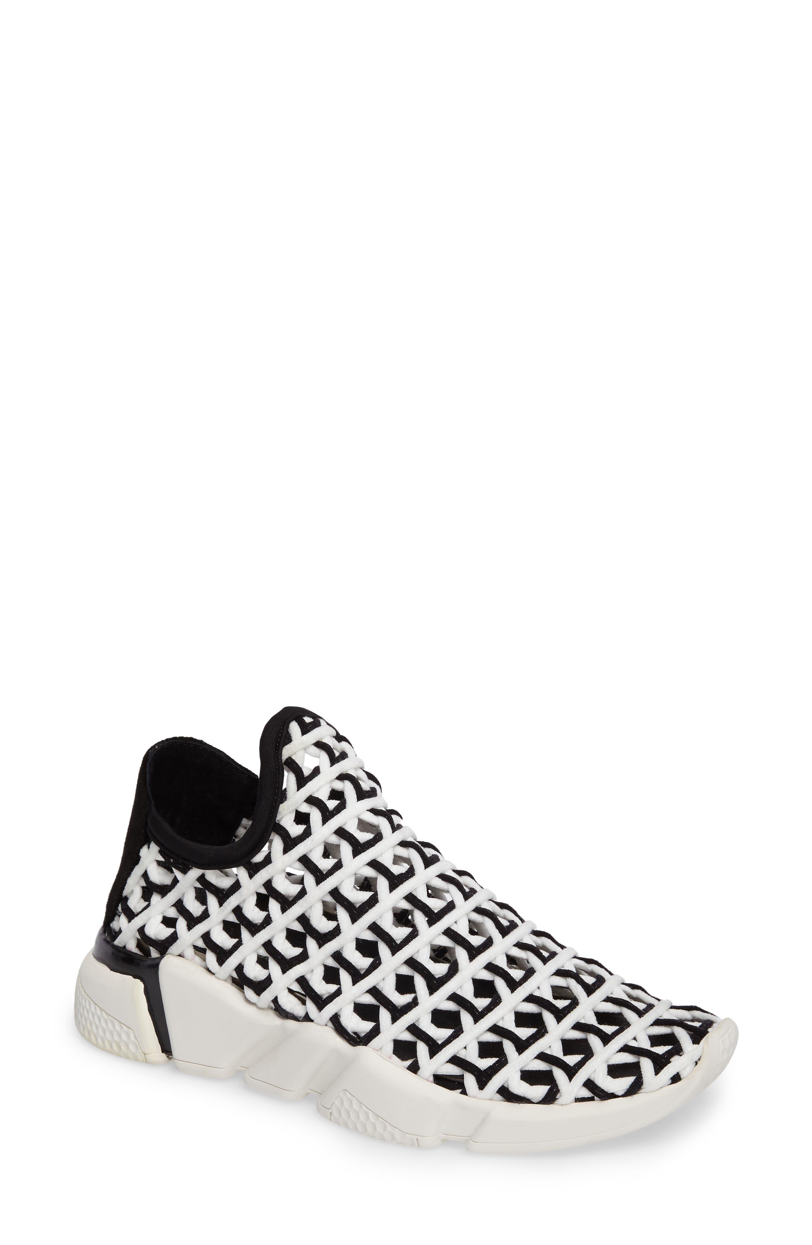 Slip-On Sneaker,                         Main,                         color, White Black White
