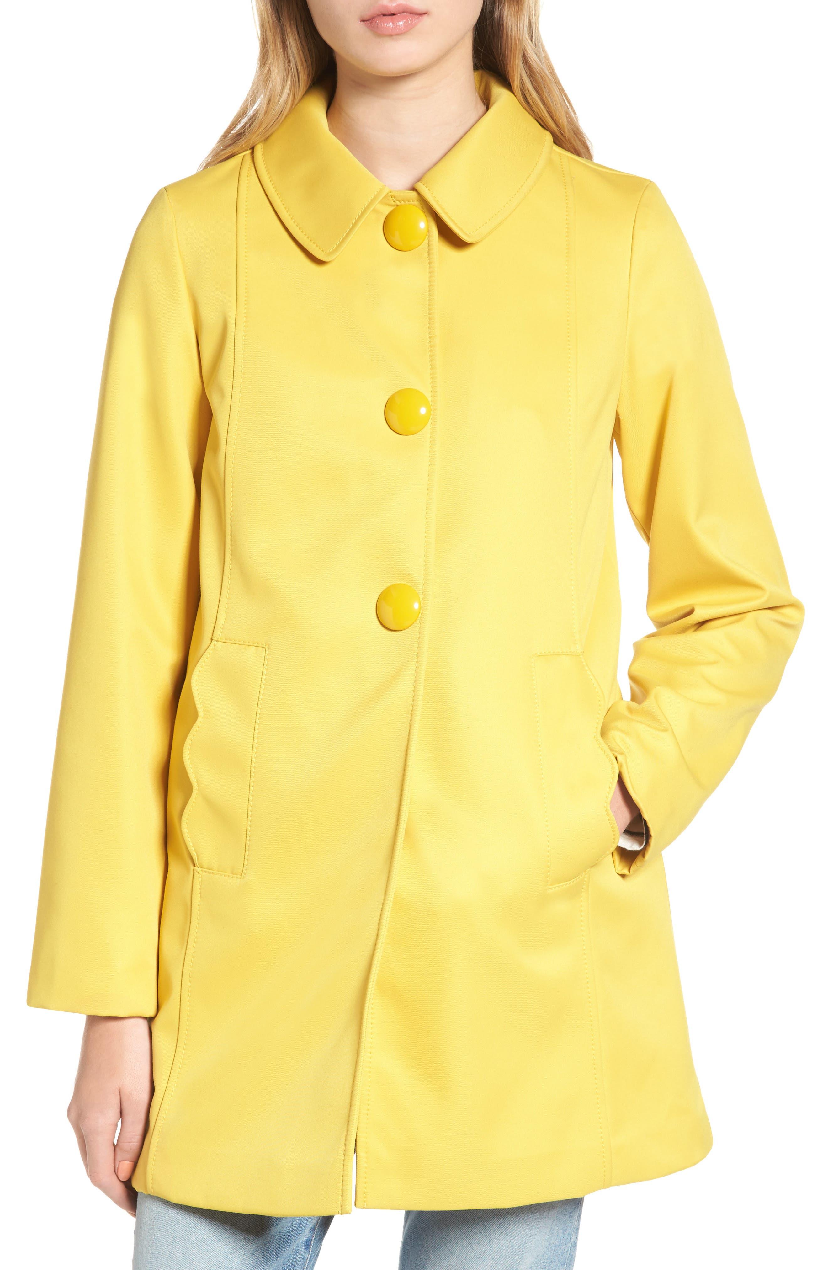 scallop edge raincoat,                             Alternate thumbnail 4, color,                             Citrine
