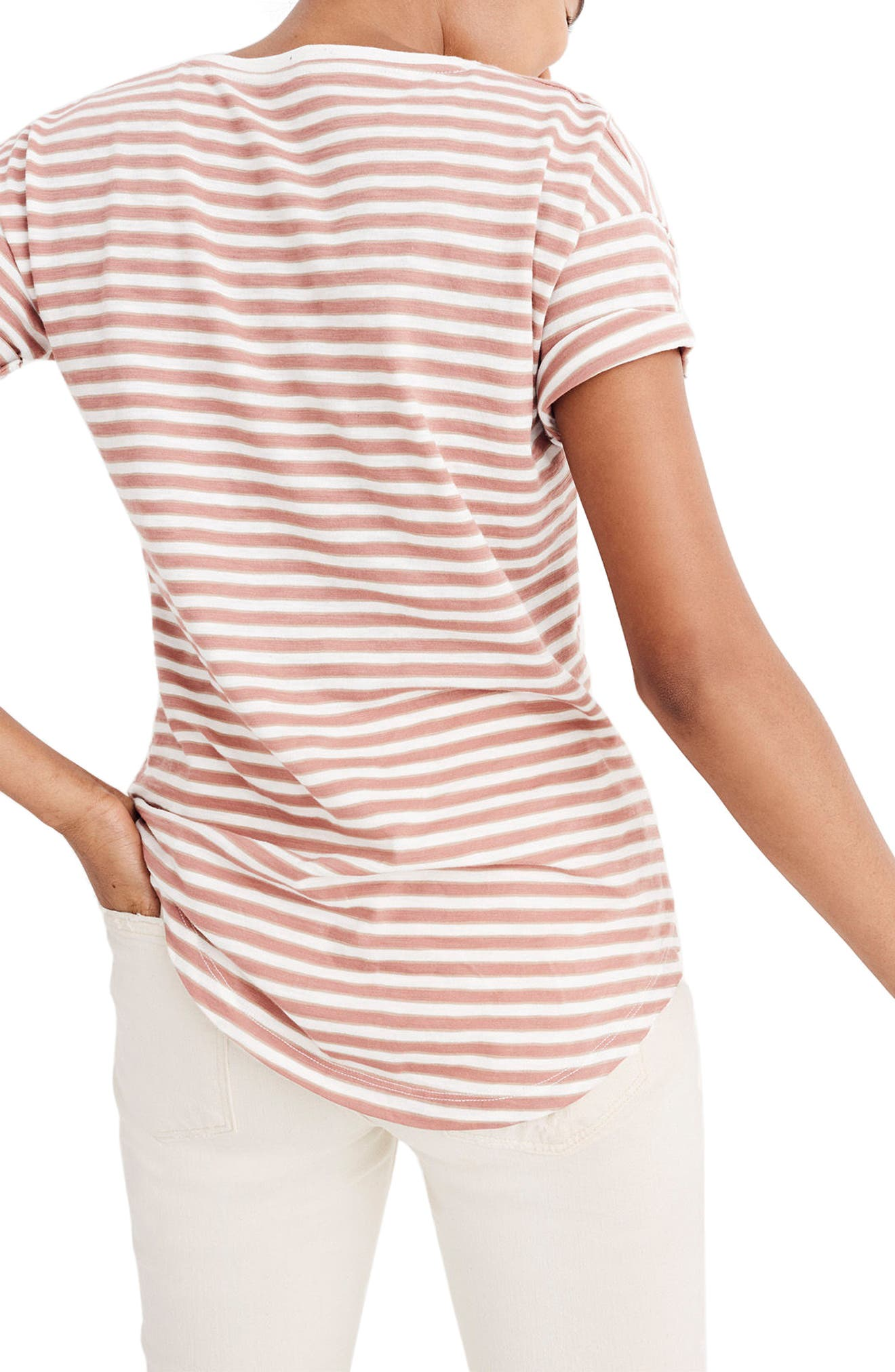 Alternate Image 2  - Madewell Stripe Whisper Cotton Crewneck Tee