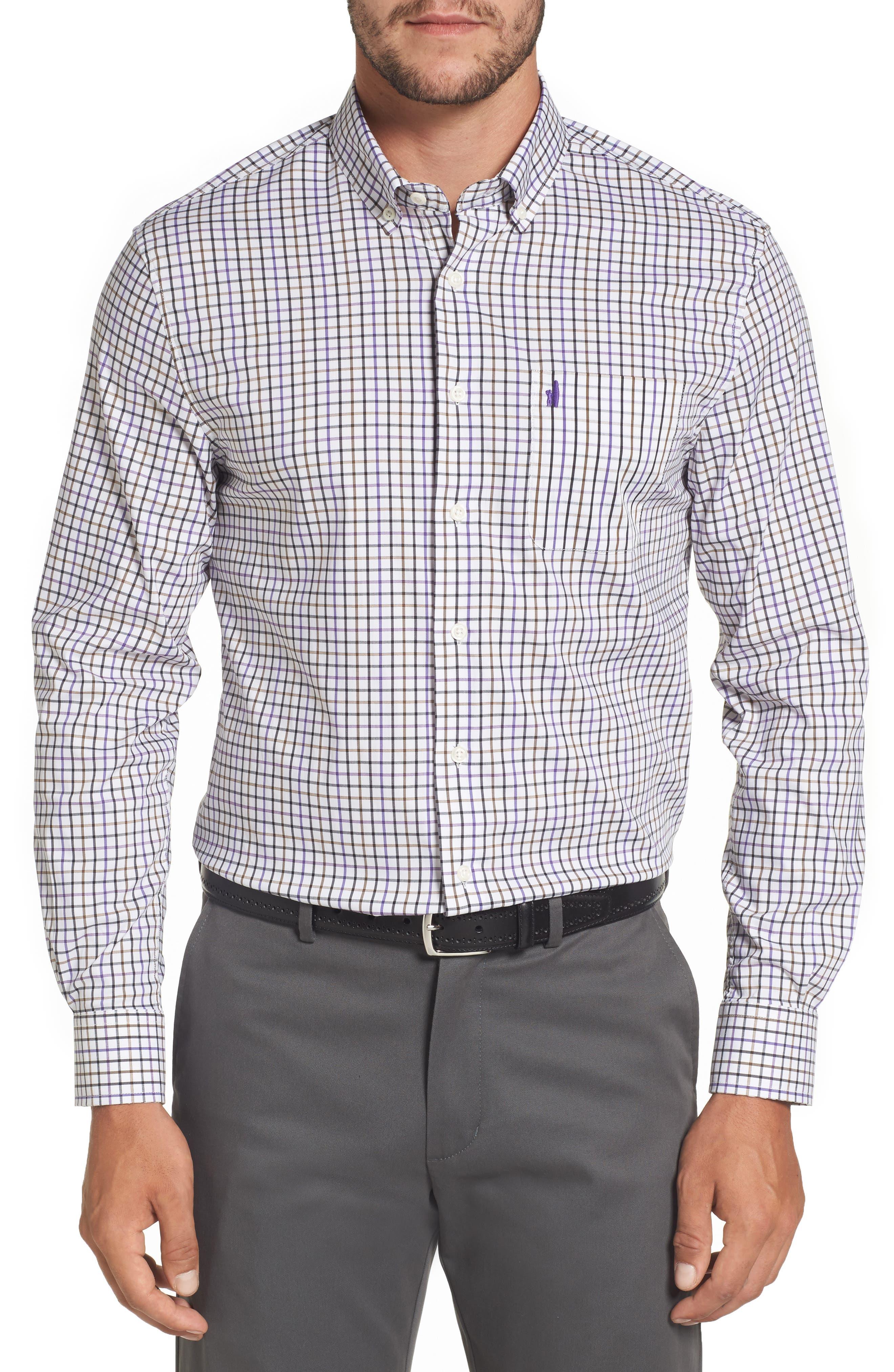 Merion Tattersall Sport Shirt,                         Main,                         color, Viola