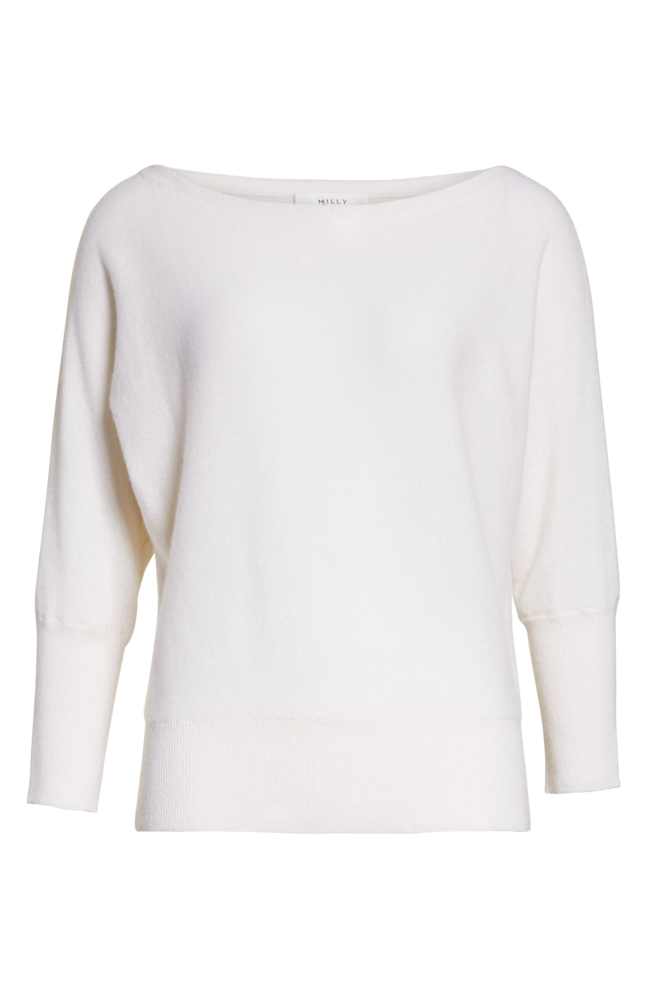 Alternate Image 6  - Milly Dolman Cashmere Sweater
