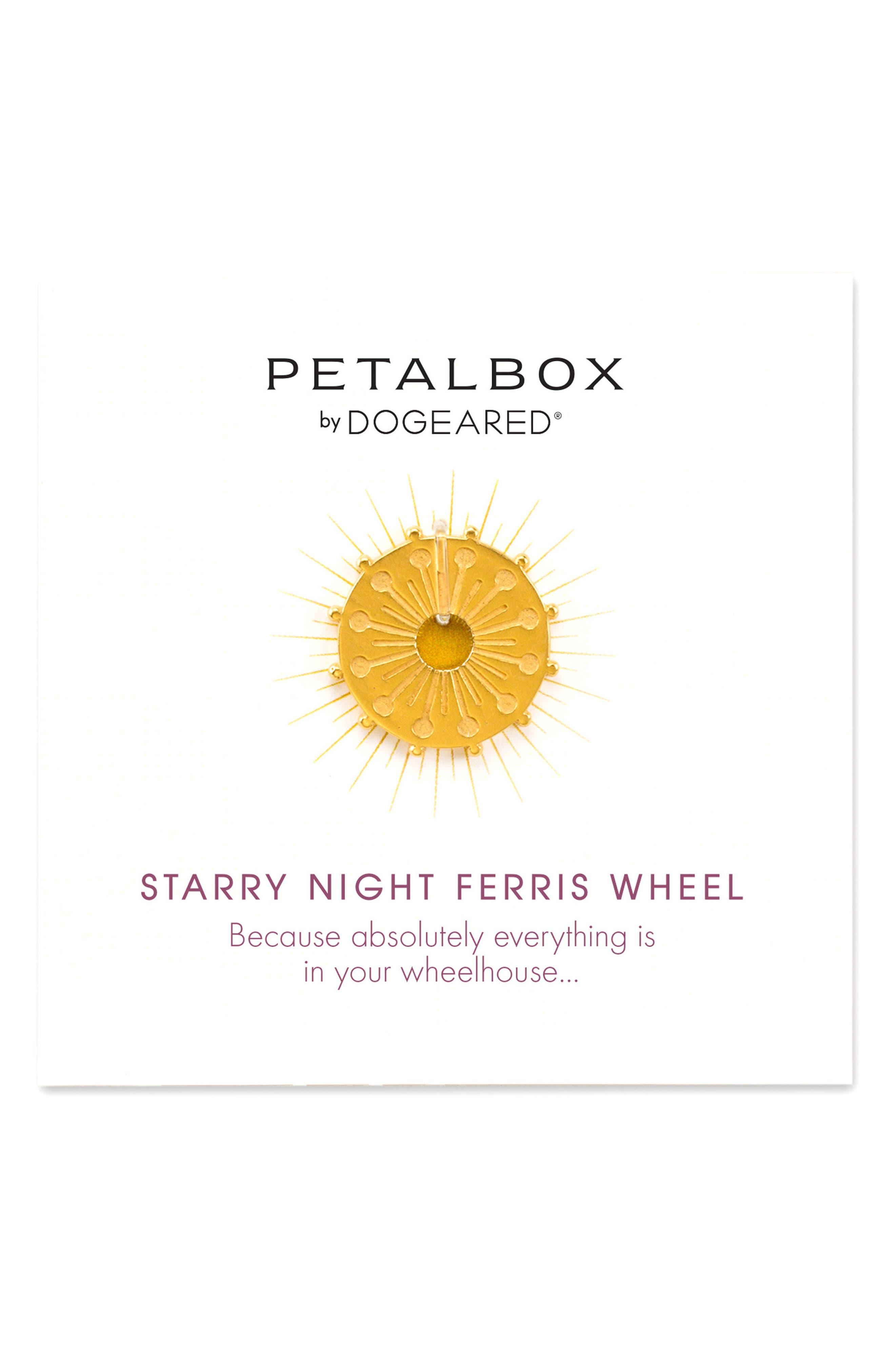 Petalbox Starry Night Ferris Wheel Enhancer,                         Main,                         color, Gold