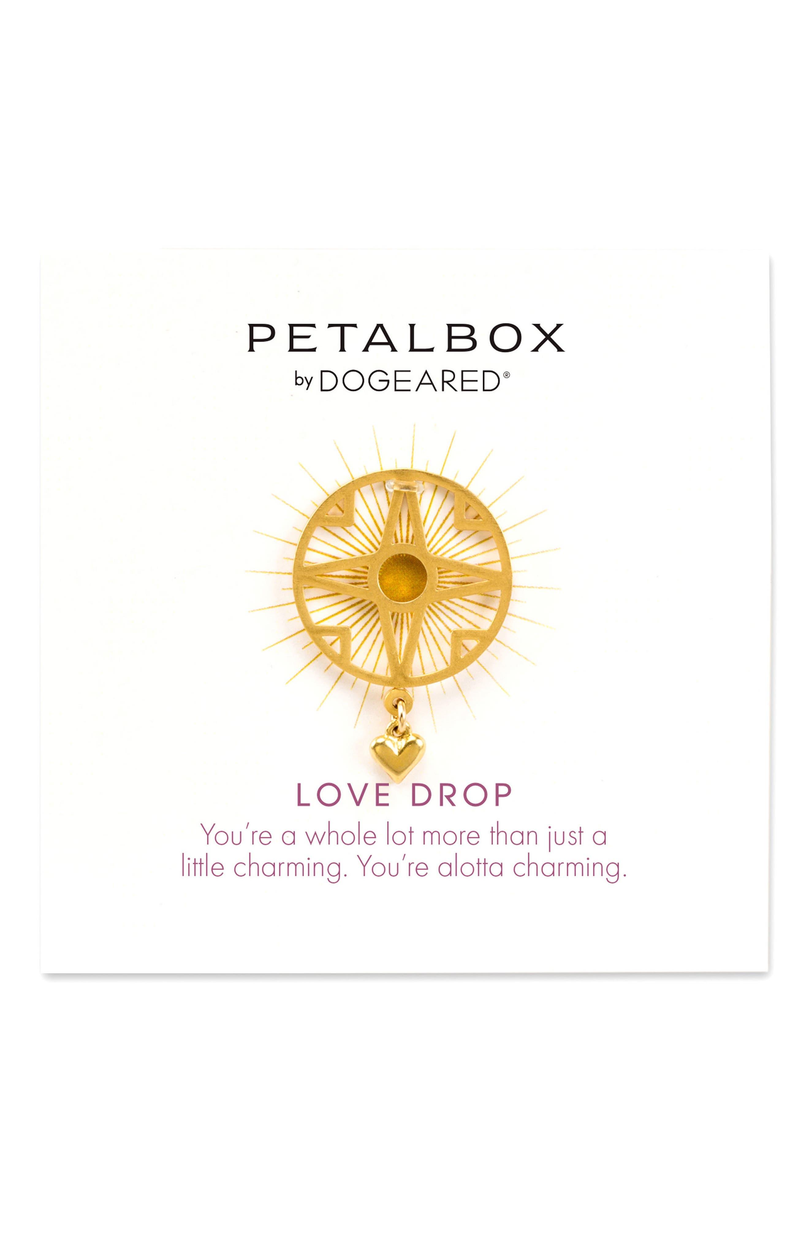 Main Image - Dogeared Petalbox Love Drop Enhancer (Nordstrom Exclusive)