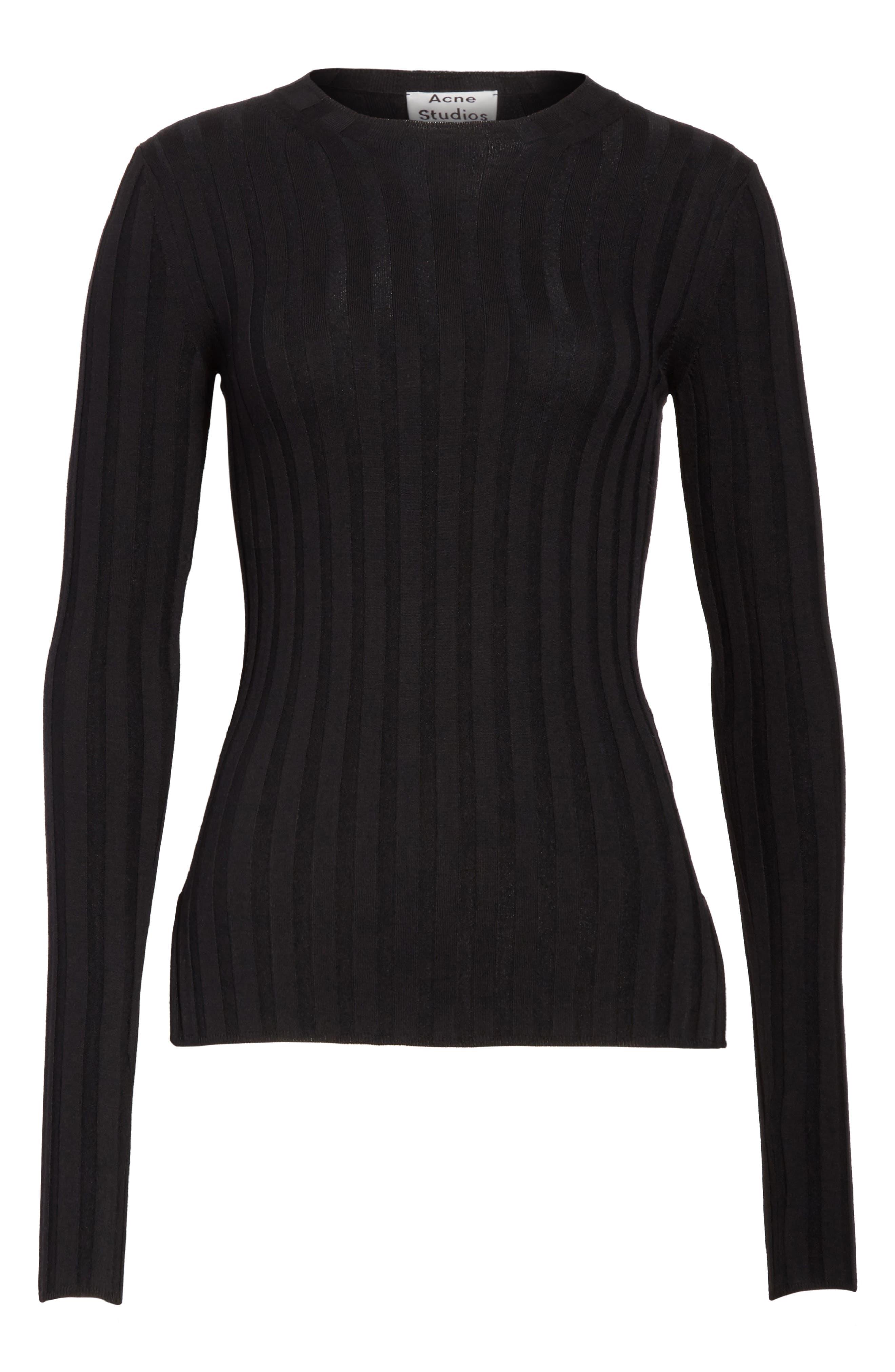 Alternate Image 6  - ACNE Studios Carina Fitted Crewneck Sweater