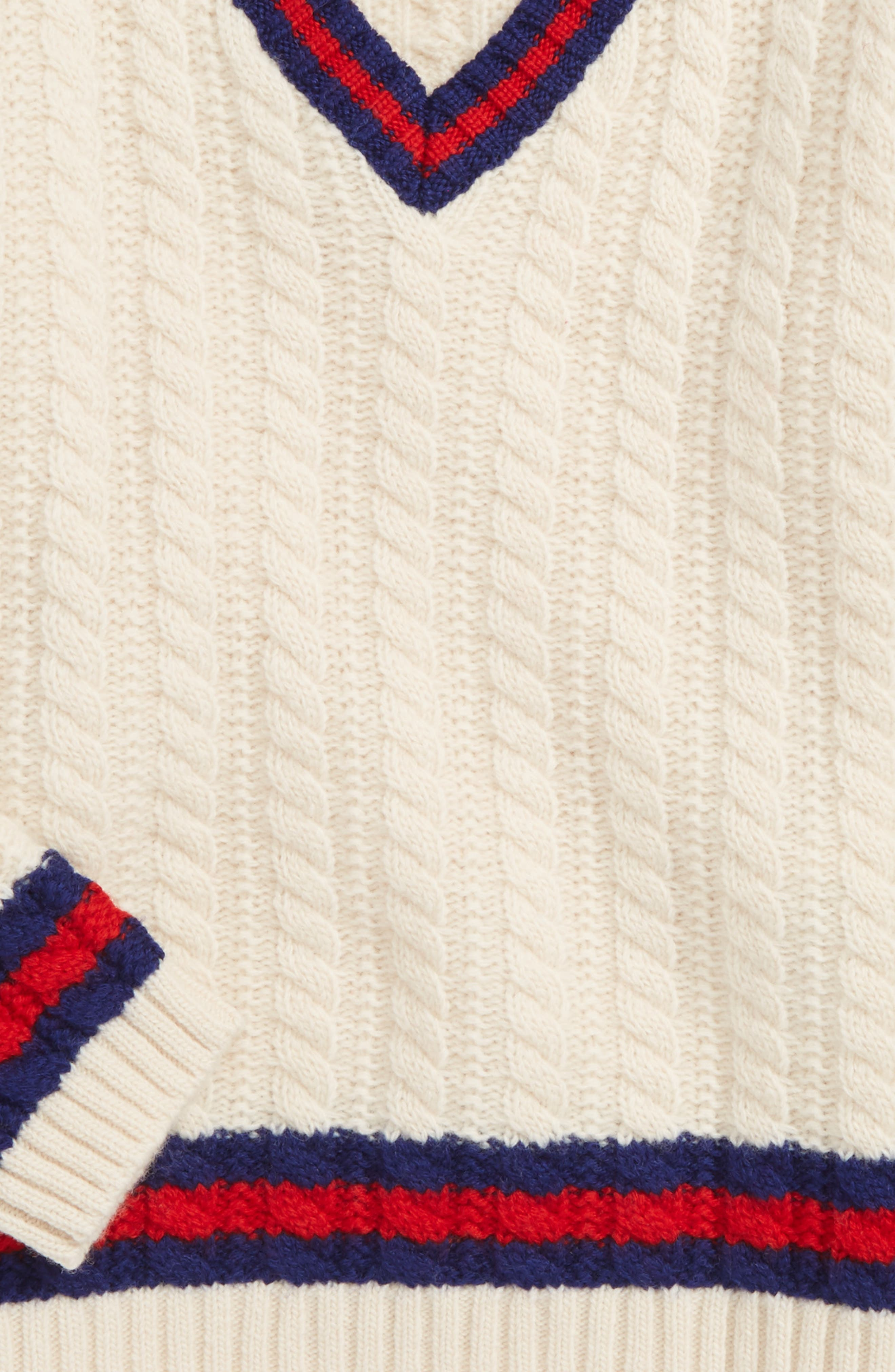 Alternate Image 2  - Gucci Cable Knit Wool Sweater (Baby)