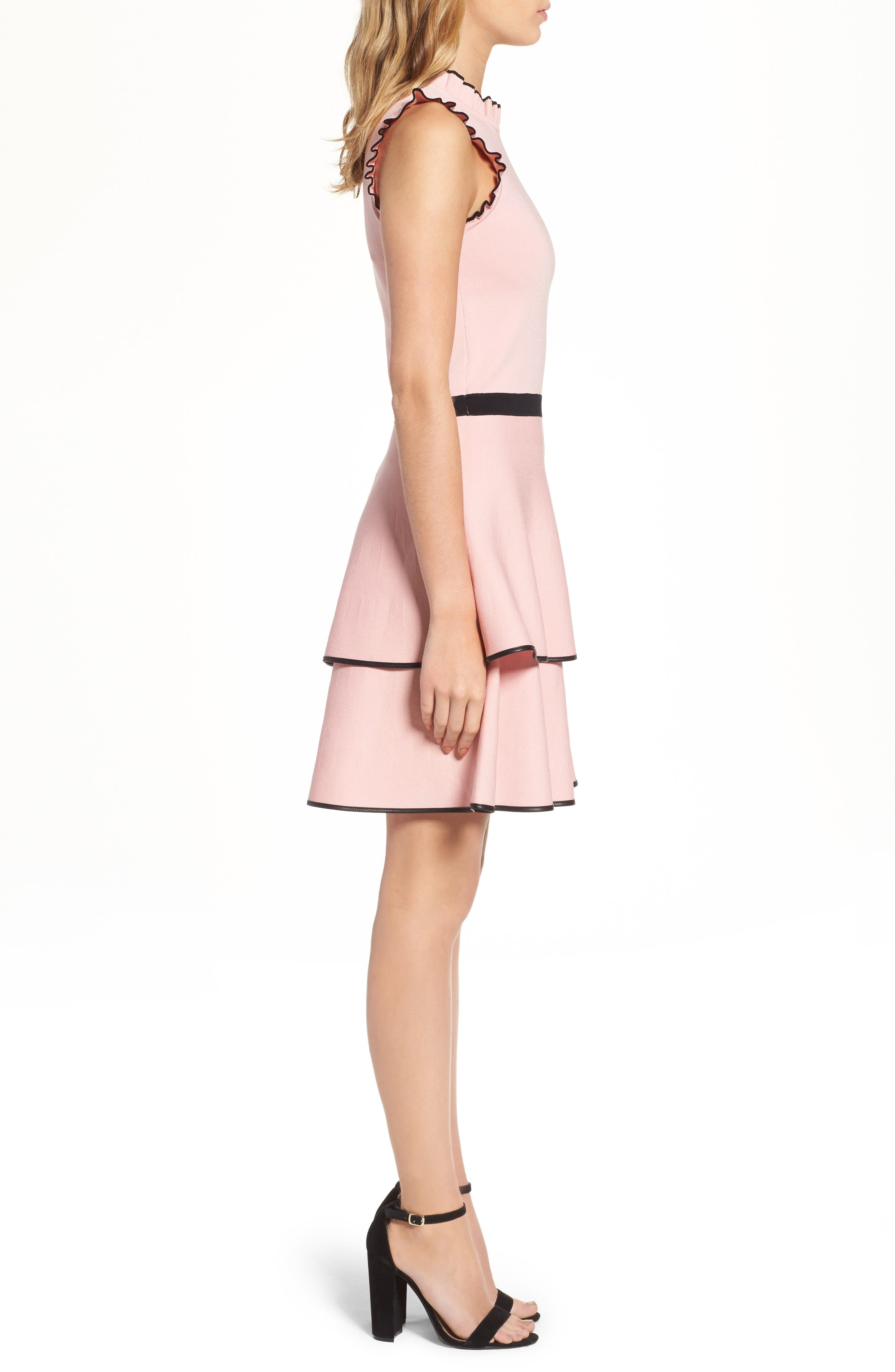 Ryker Fit & Flare Dress,                             Alternate thumbnail 3, color,                             Ballerina