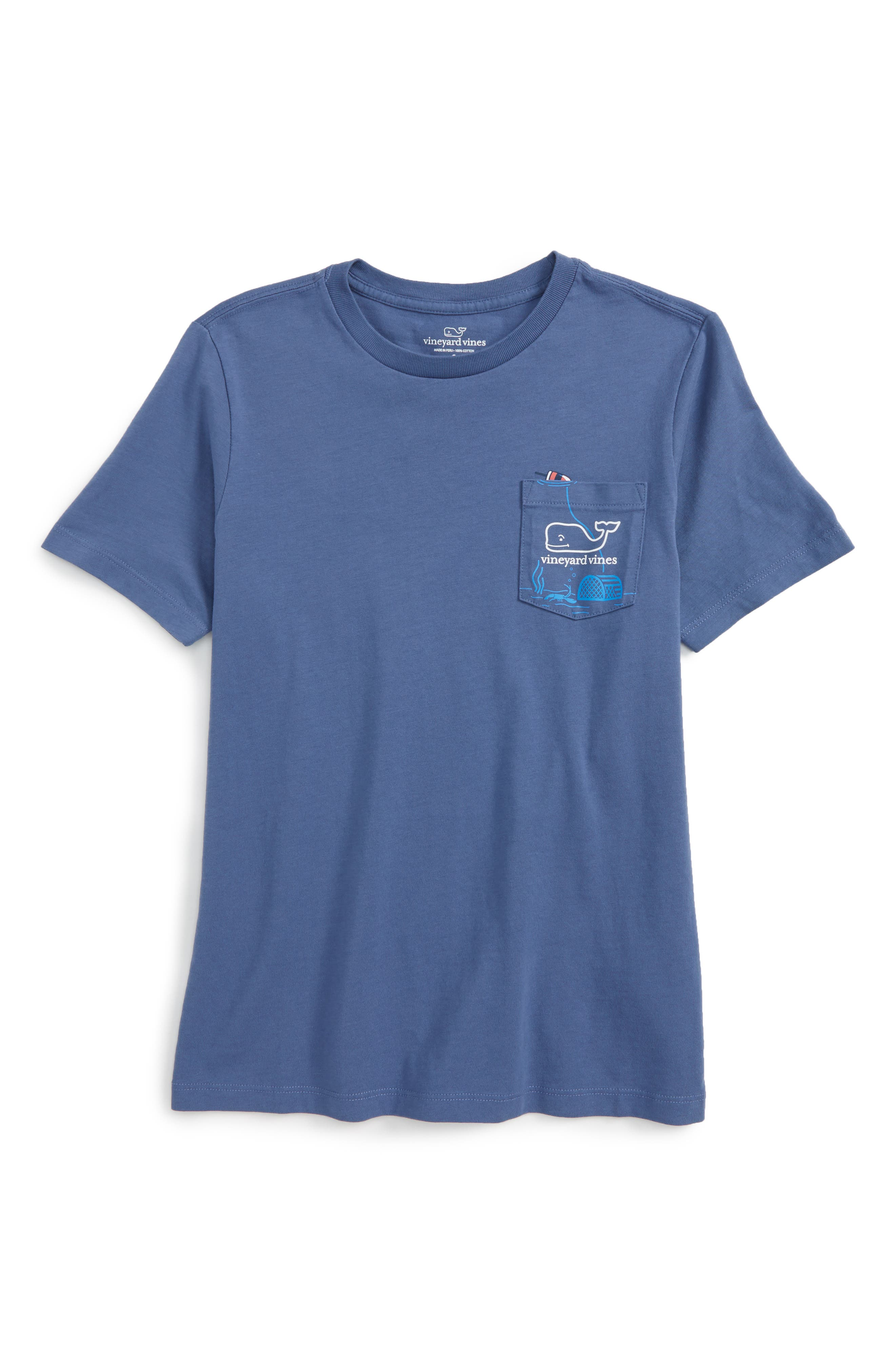 Alternate Image 1 Selected - vineyard vines Lobster Trap Cotton T-Shirt (Big Boys)