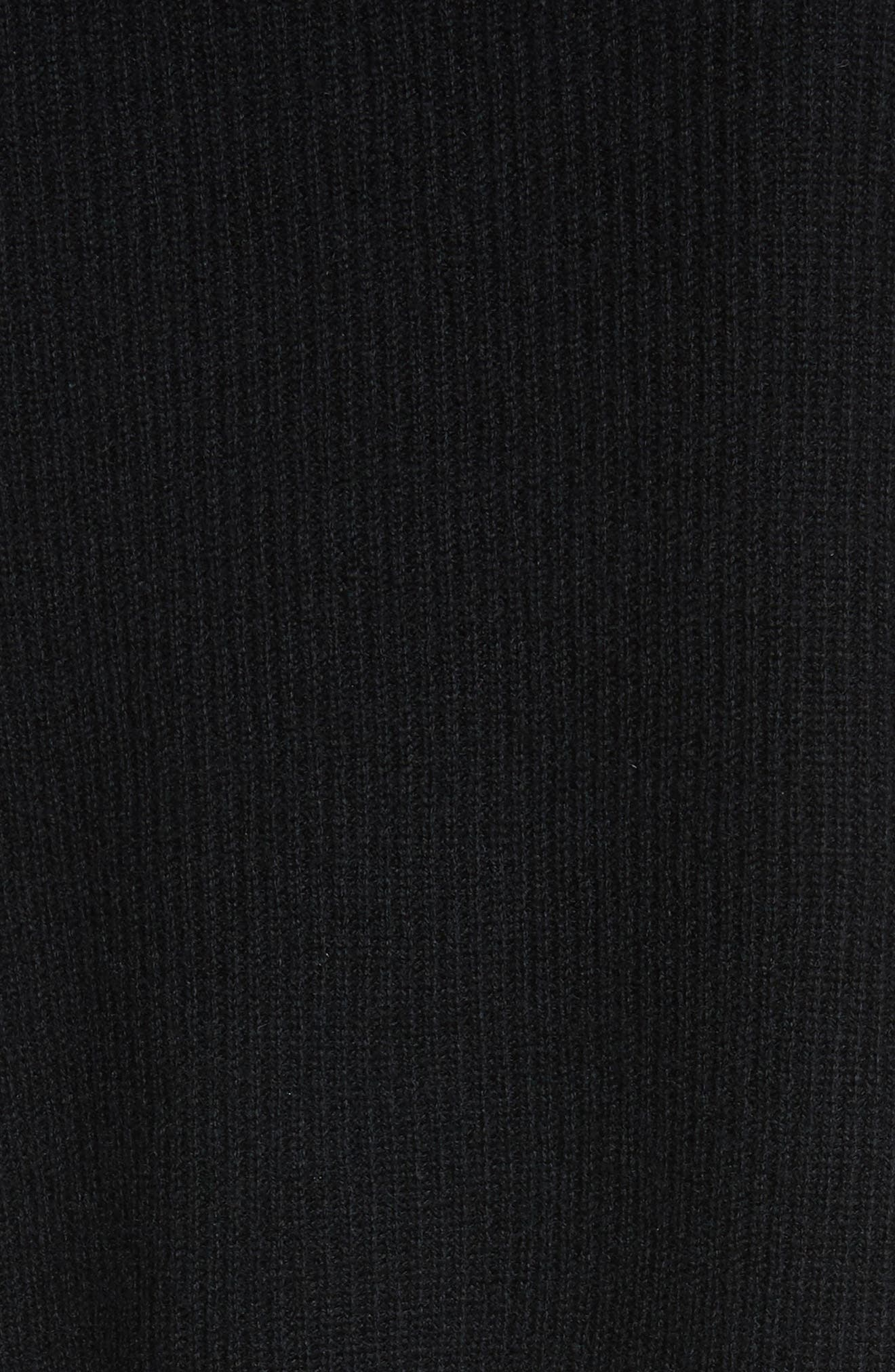 Off the Shoulder Wool & Cashmere Sweater,                             Alternate thumbnail 6, color,                             Black