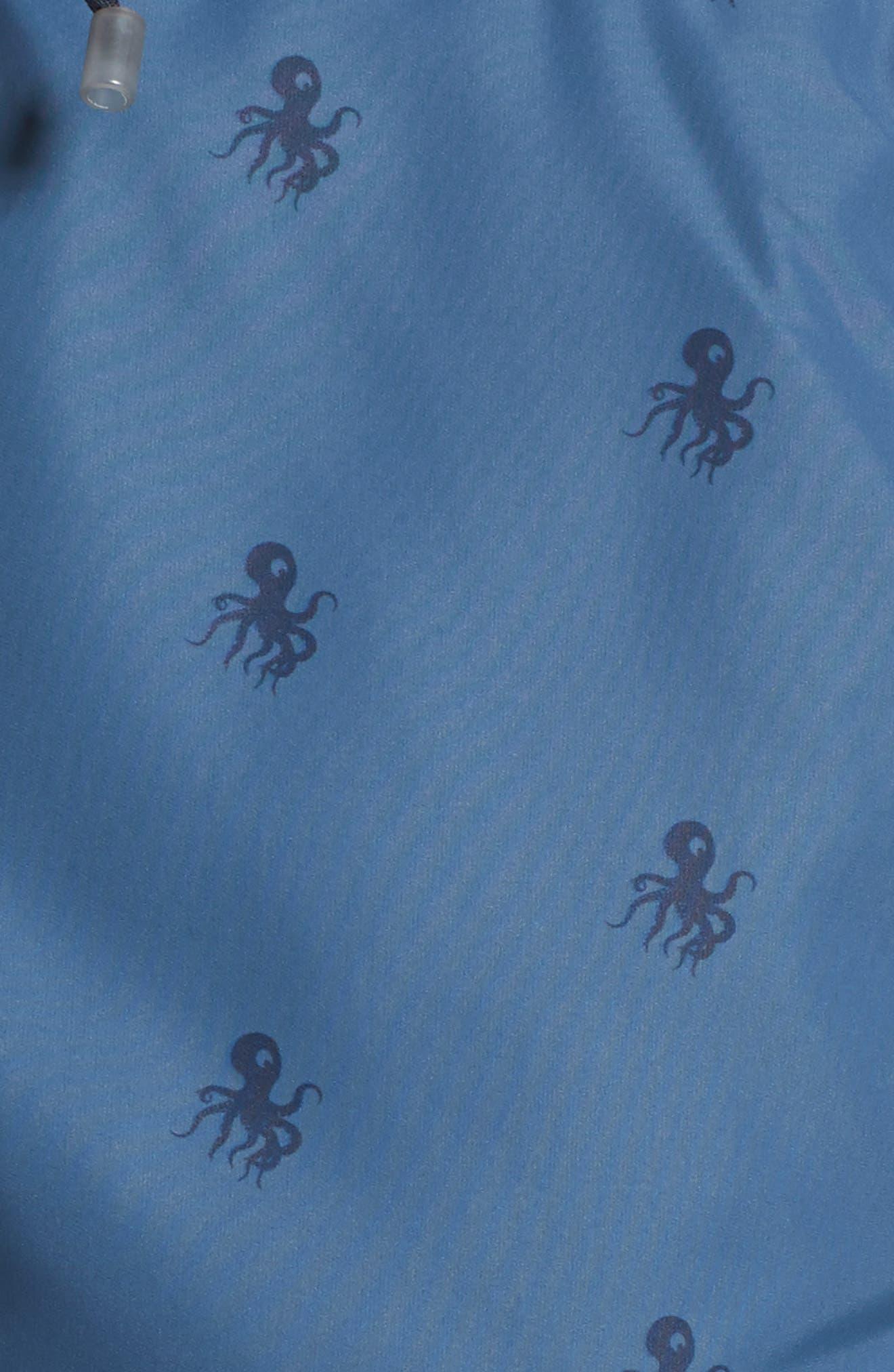 Ropefish Print Swim Trunks,                             Alternate thumbnail 11, color,                             Blue