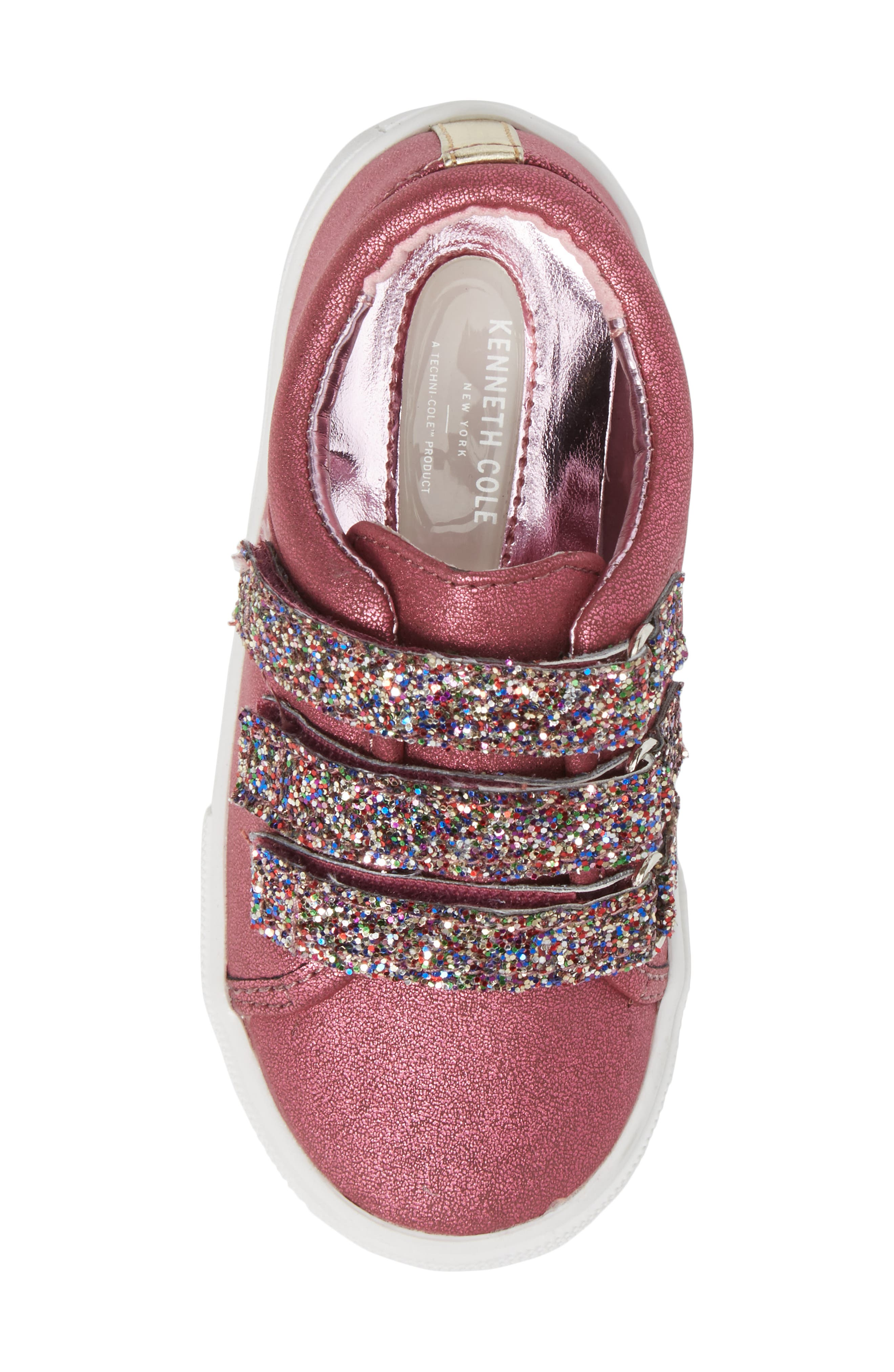 Alternate Image 5  - Kenneth Cole New York Kam Glitter Strap Sneaker (Walker & Toddler)