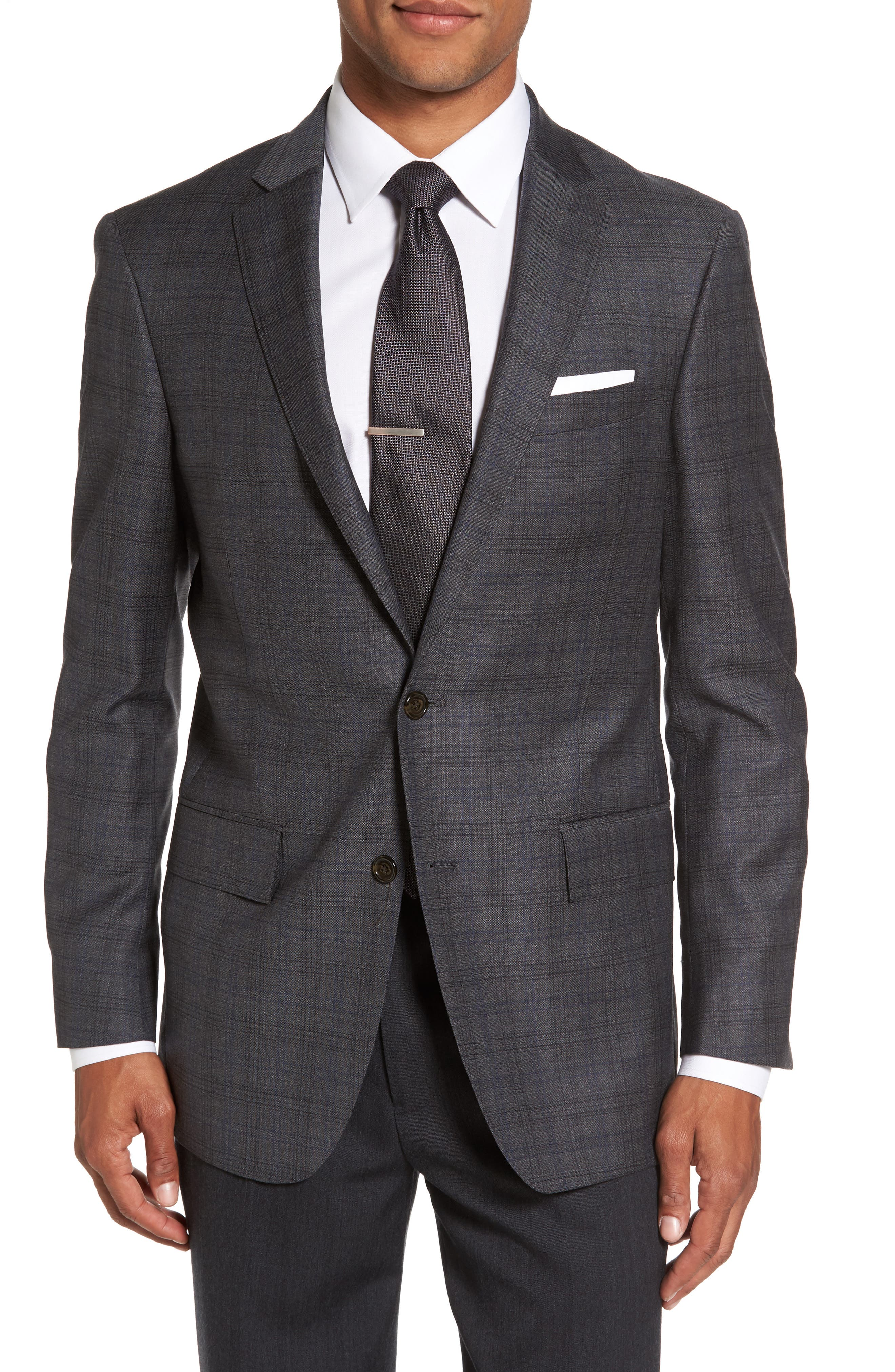 Main Image - Todd Snyder White Label Sutton Trim Fit Plaid Wool Sport Coat