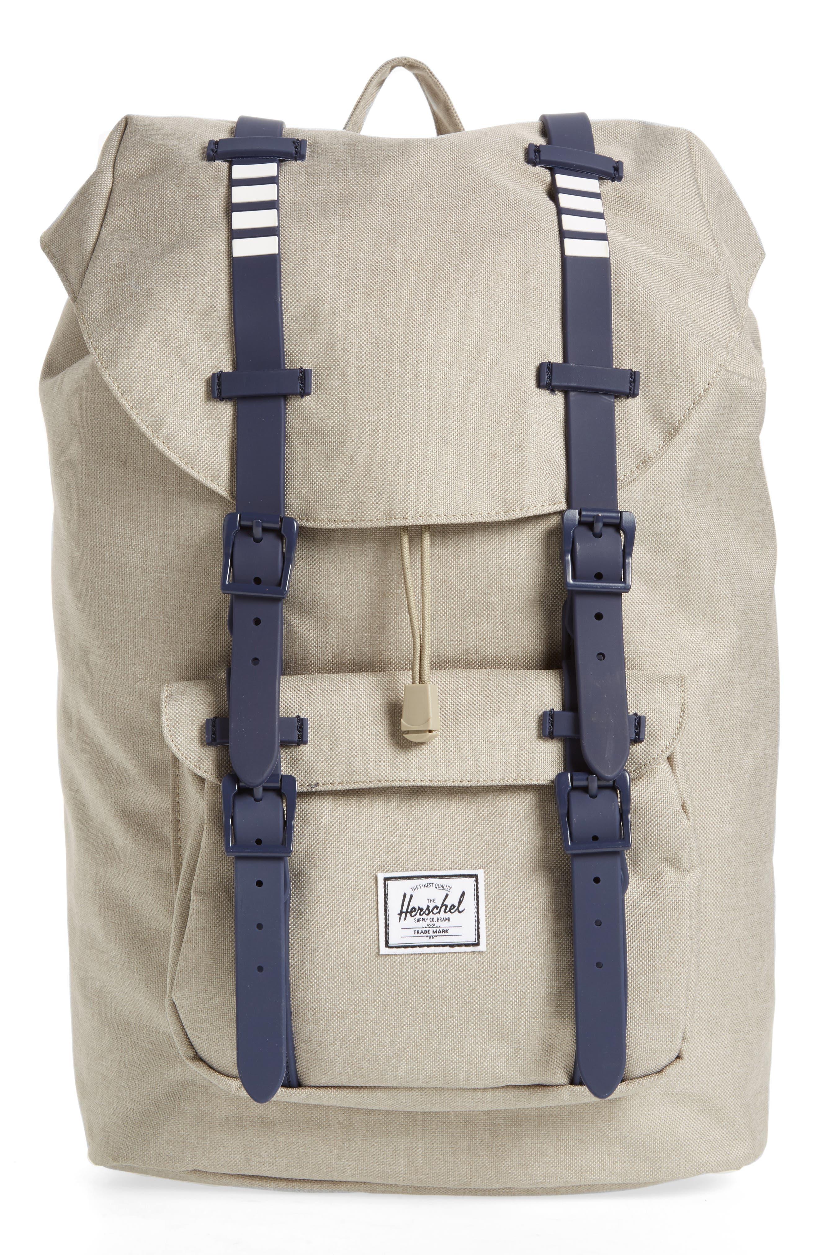Little America - Mid Volume Backpack,                         Main,                         color, Light Khaki Crosshatch