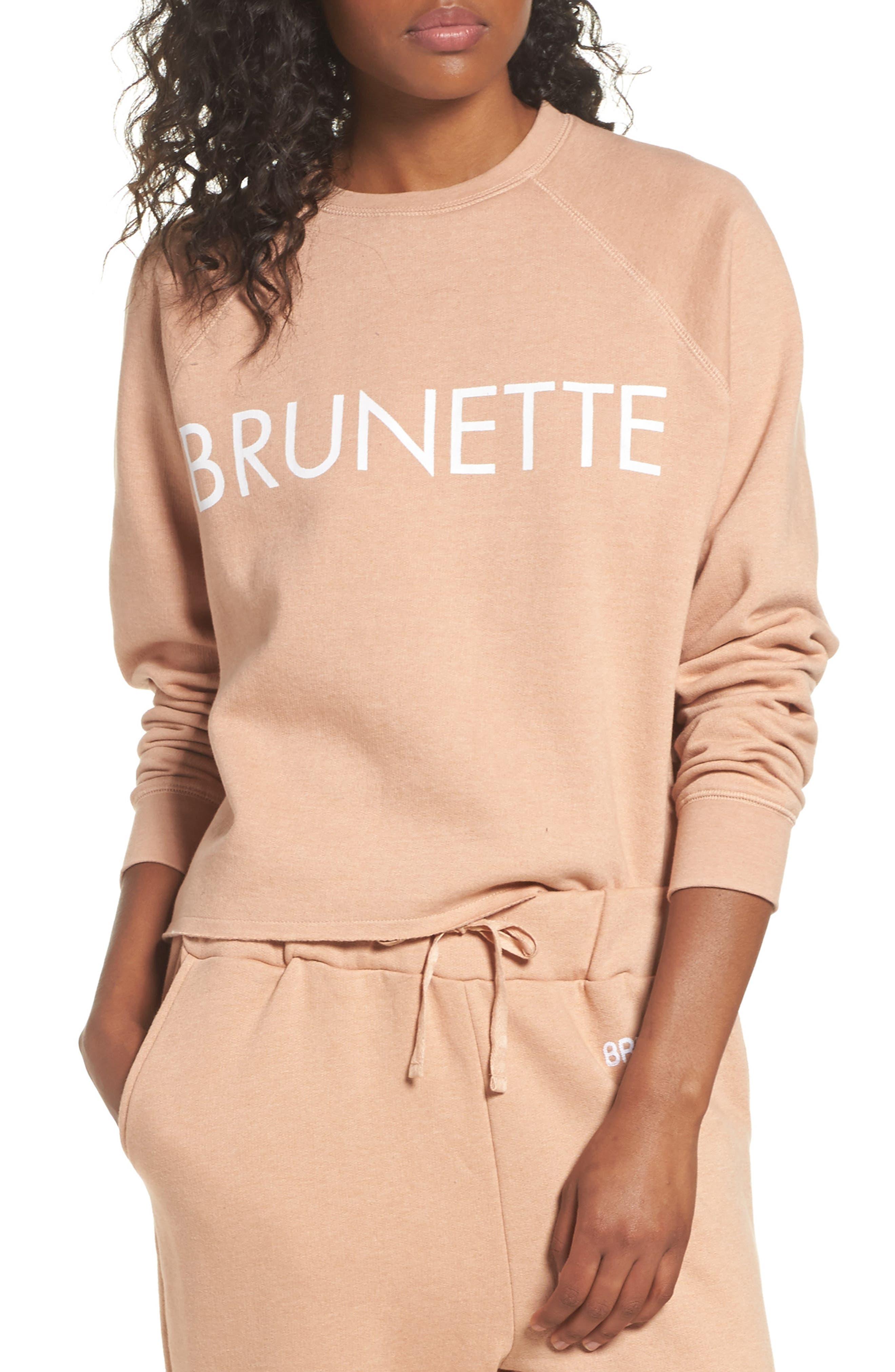 Middle Sister Brunette Sweatshirt,                             Main thumbnail 1, color,                             Rose