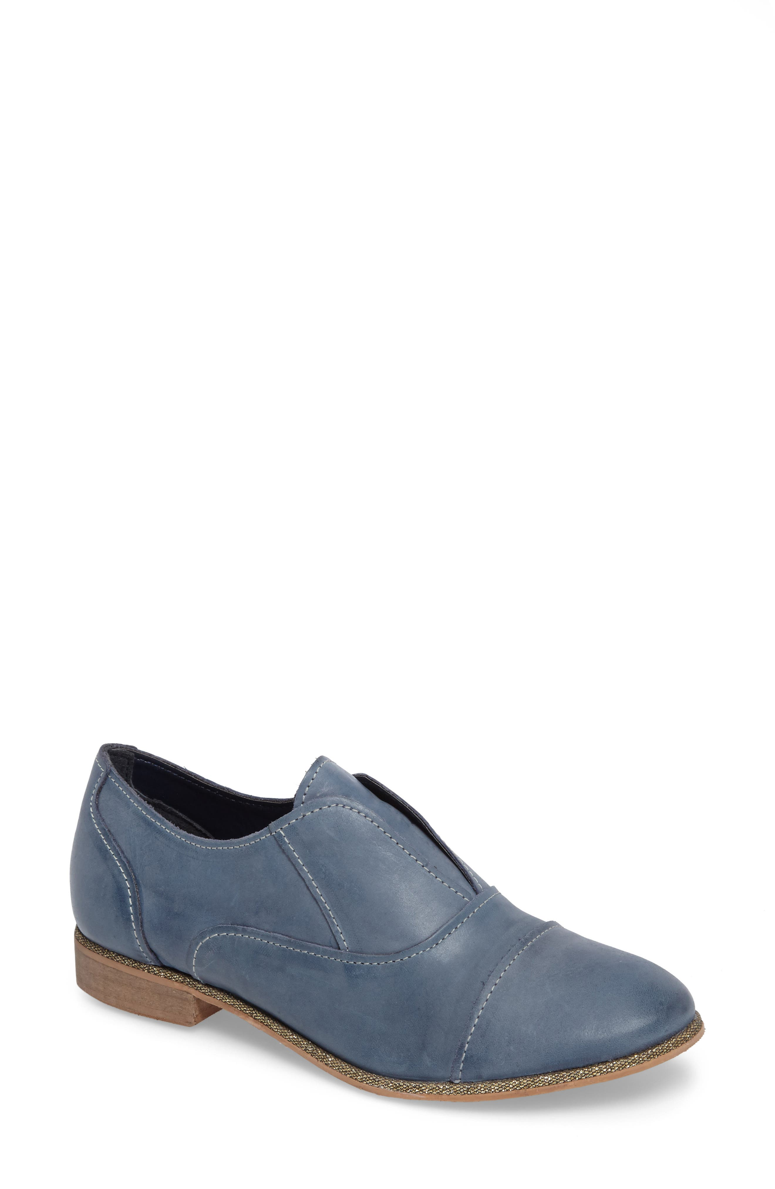 Slip Knot Loafer,                             Main thumbnail 1, color,                             Blue Leather