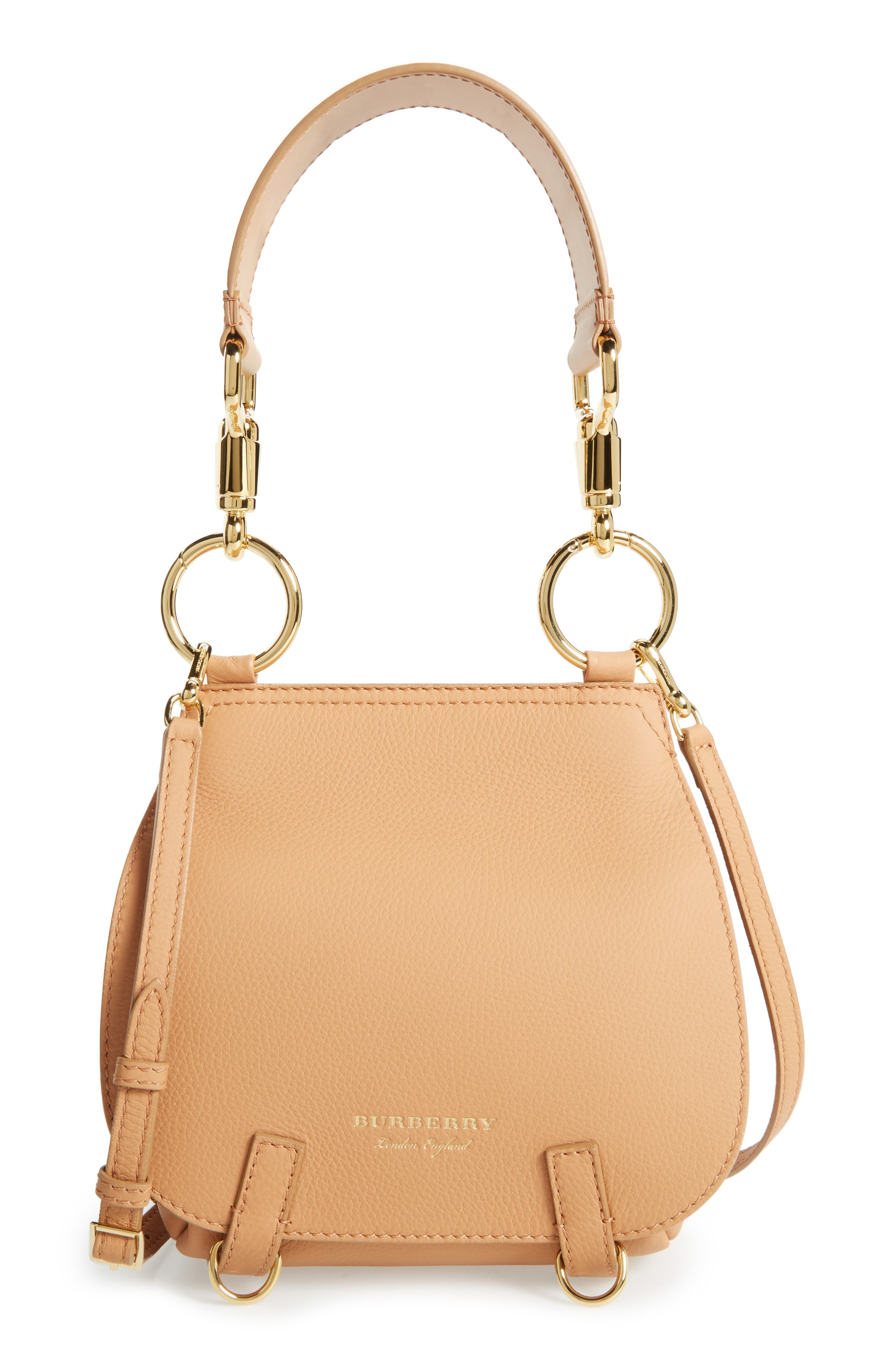 Main Image - Burberry Bridle Deerskin Shoulder Bag