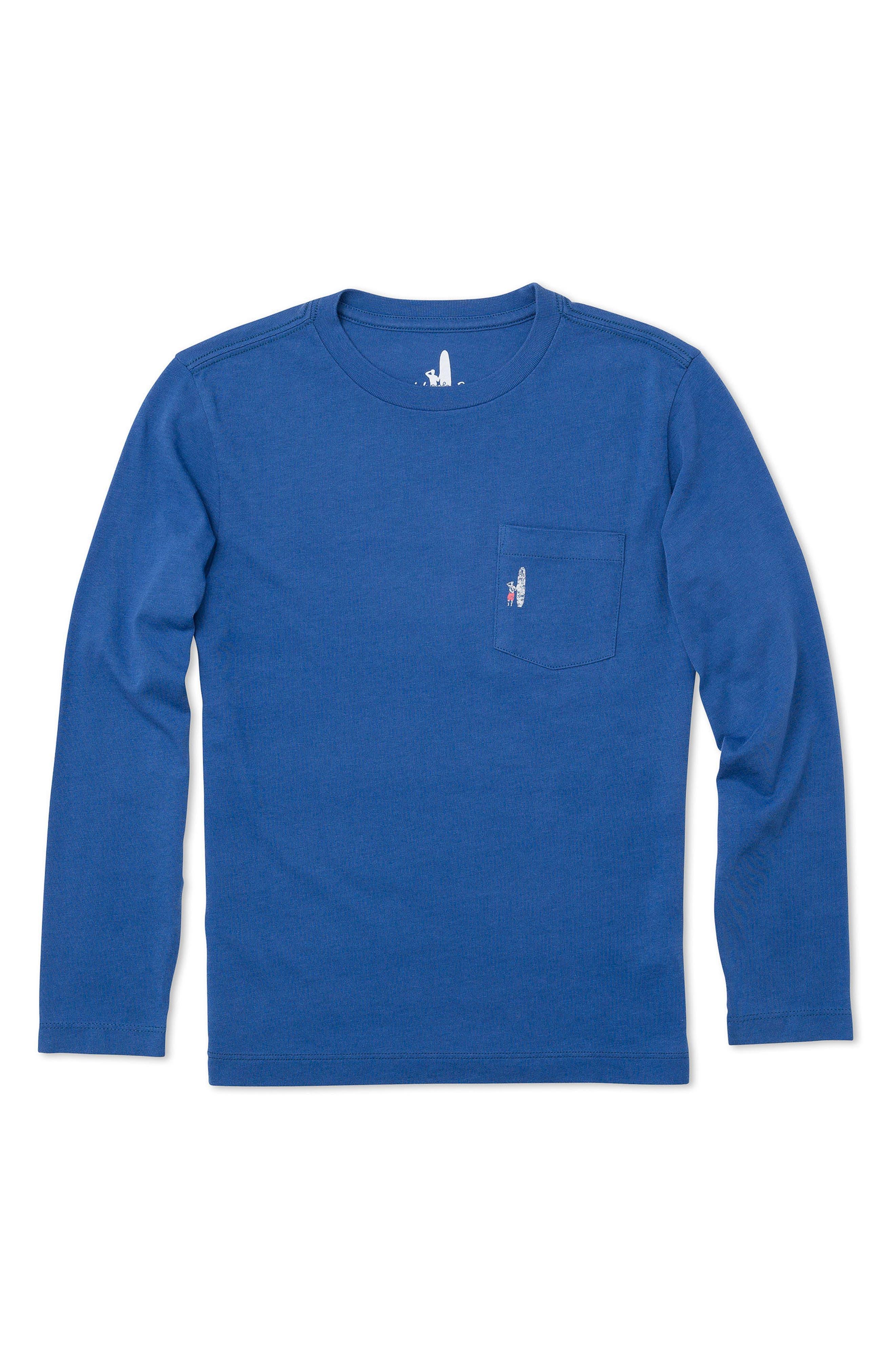 Main Image - johnnie-O Reef Break Long-Sleeve Pocket T-Shirt (Little Boys & Big Boys)
