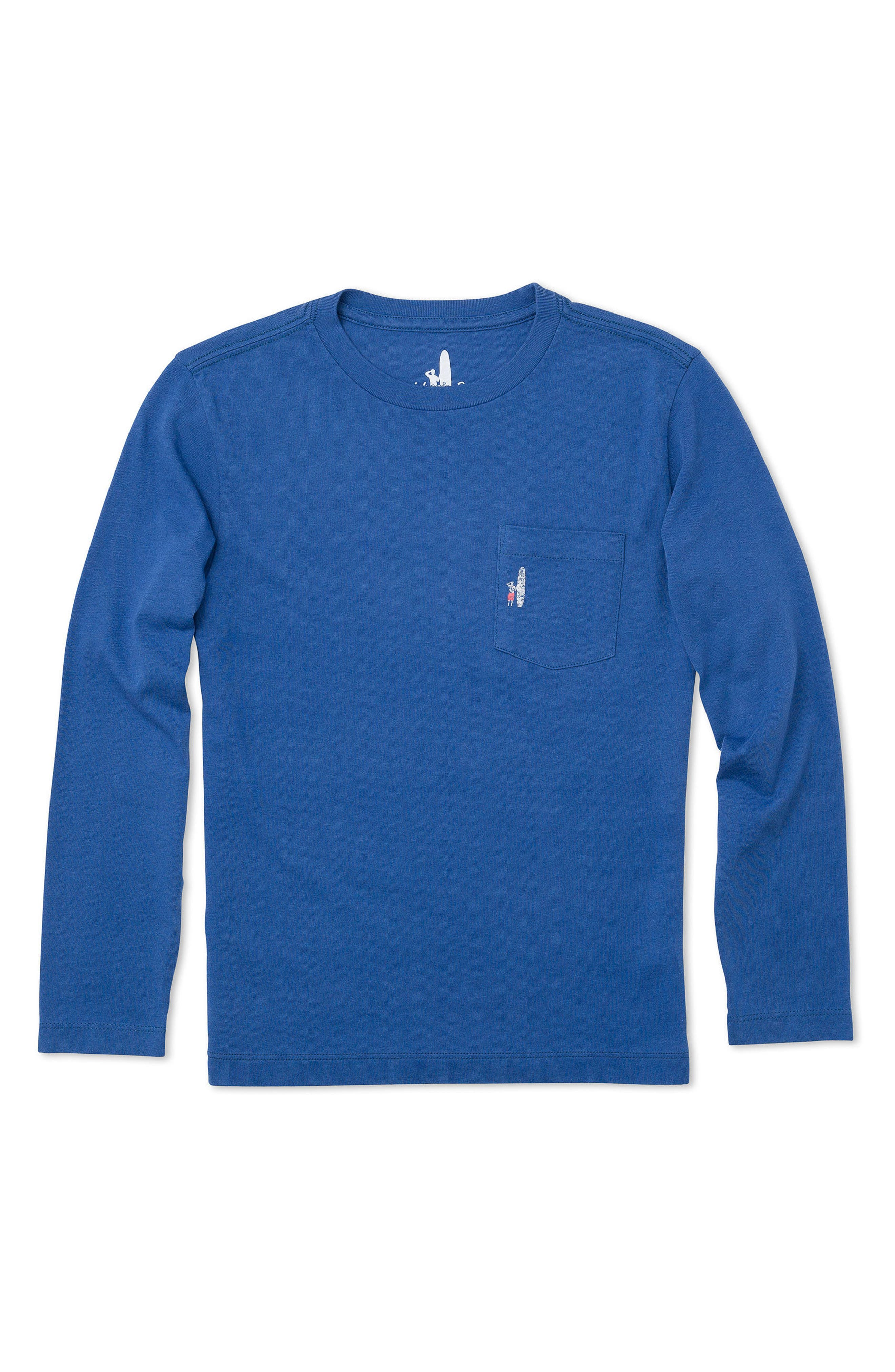 Reef Break Long-Sleeve Pocket T-Shirt,                         Main,                         color, Laguna Blue