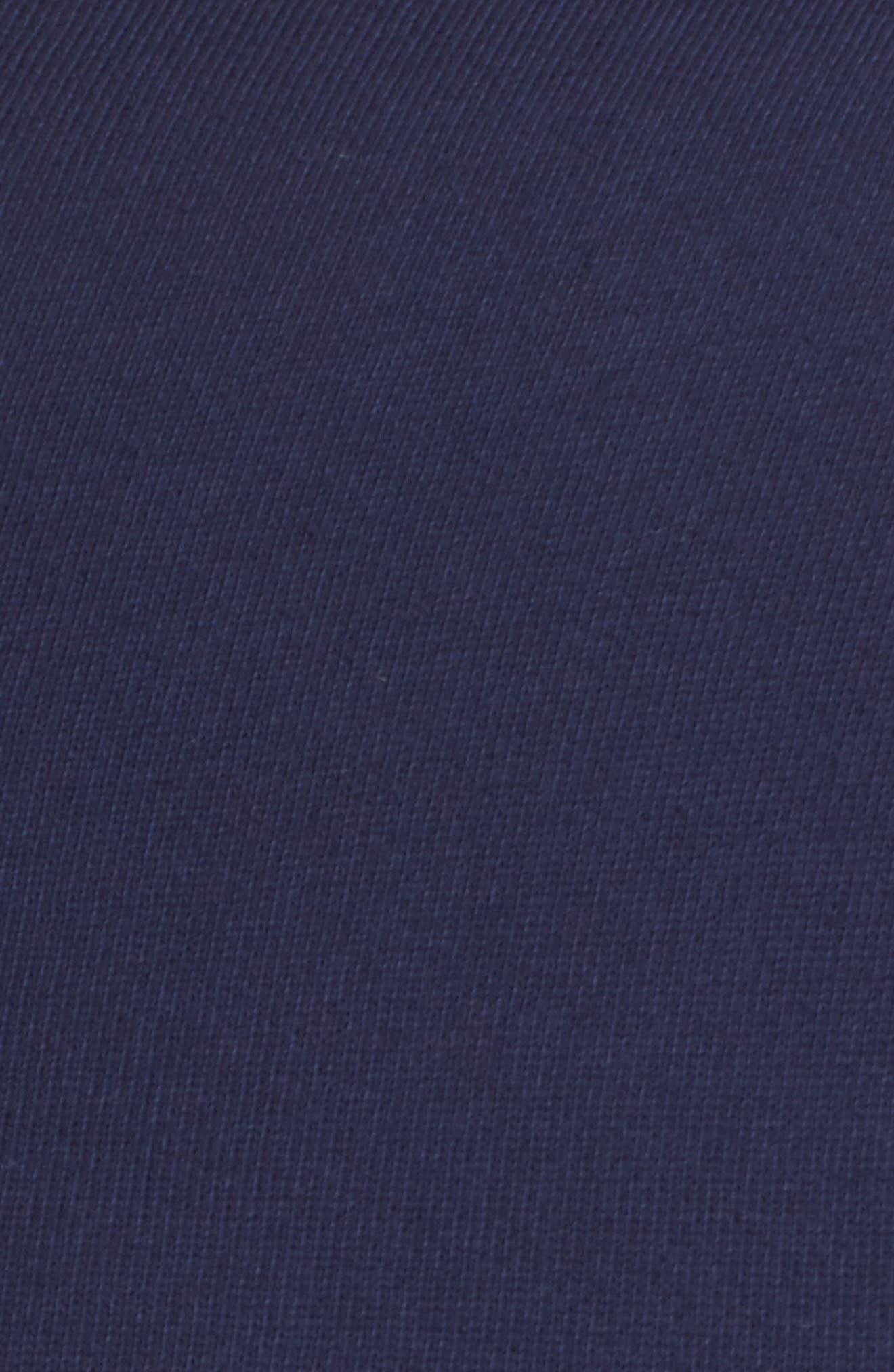 Knit Drape Front Jacket,                             Alternate thumbnail 5, color,                             Navy Peacoat