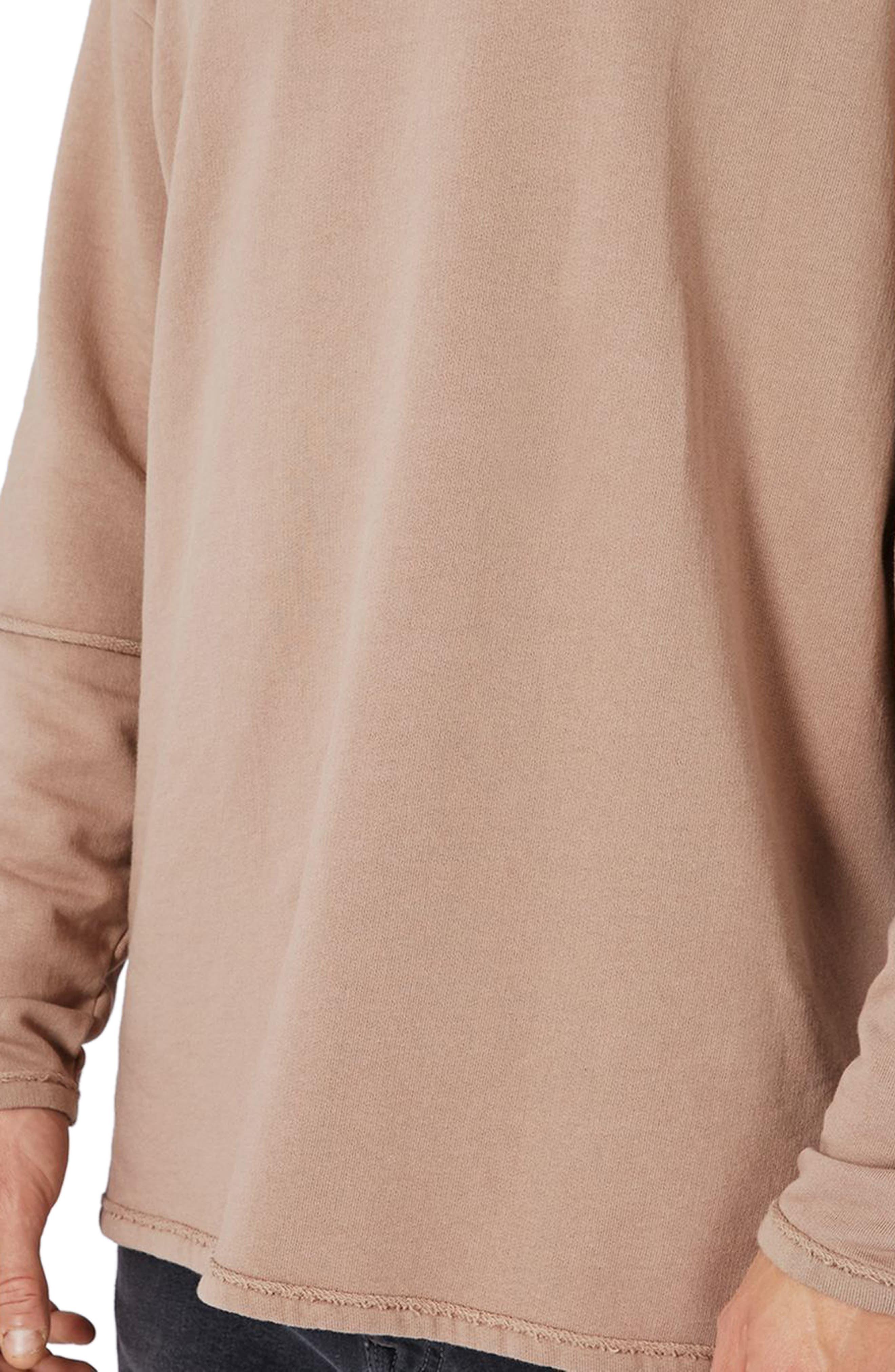Alternate Image 3  - Topman Layer Sleeve Sweatshirt