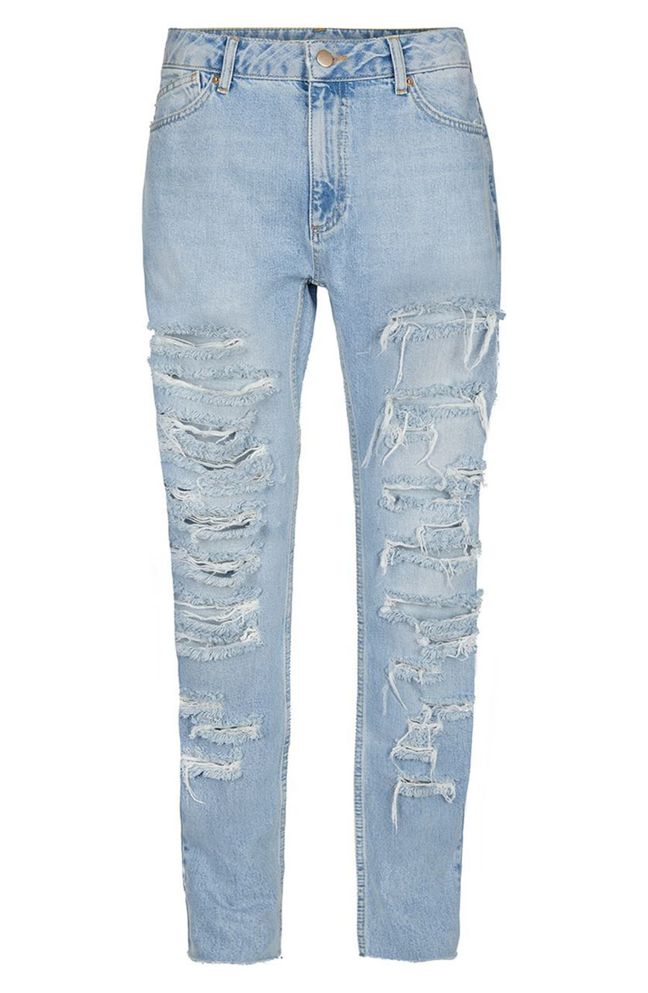 Alternate Image 4  - Topman AAA Collection Shredded Skinny Jeans