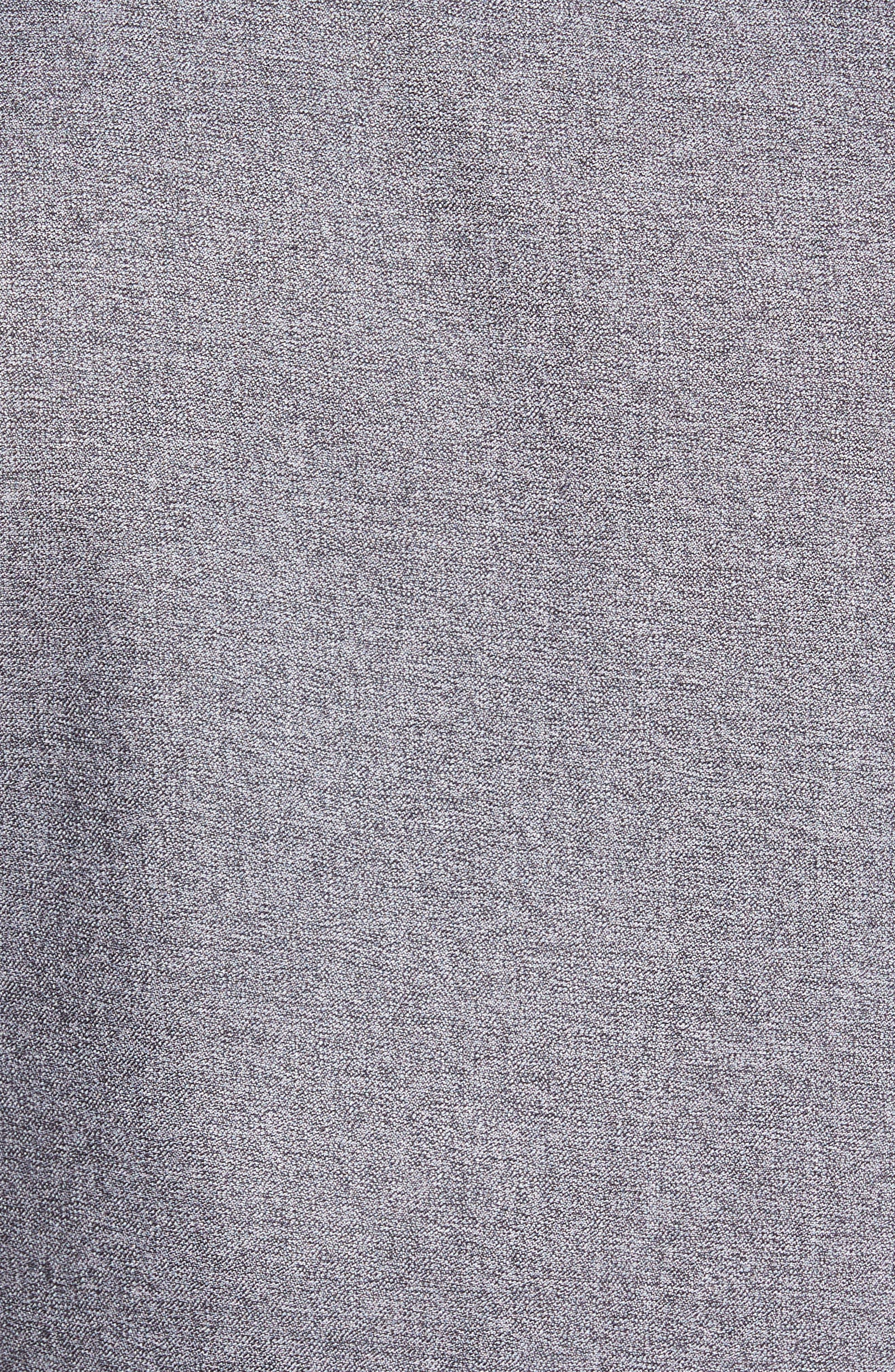 Slim Fit Non-Iron Jaspe Sport Shirt,                             Alternate thumbnail 5, color,                             Grey Magnet Black Jaspe