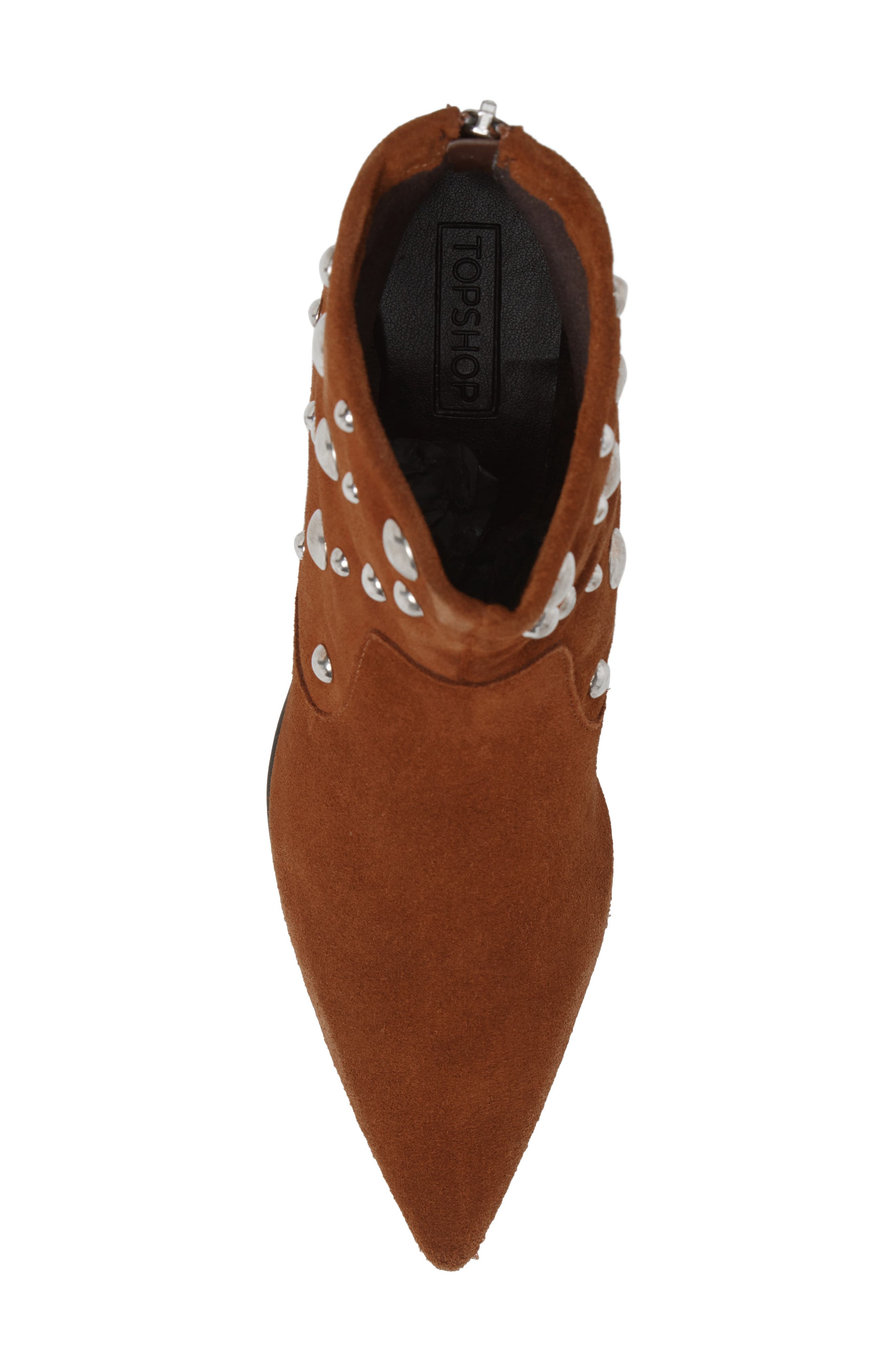Alternate Image 5  - Topshop Ascot Studded Pointy Toe Bootie (Women)