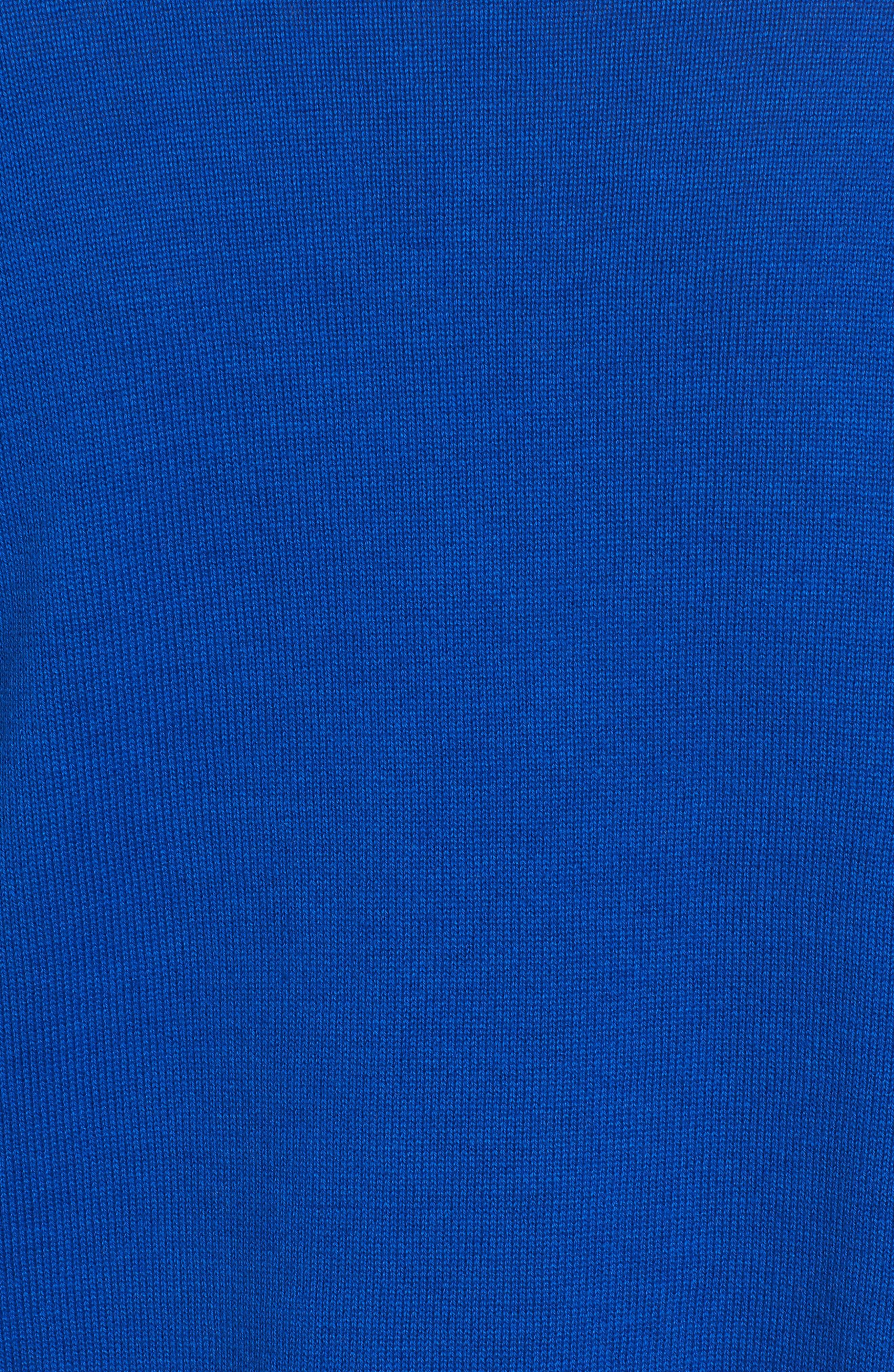 Mixed Cotton Knit Cardigan,                             Alternate thumbnail 5, color,                             Royal Cobalt